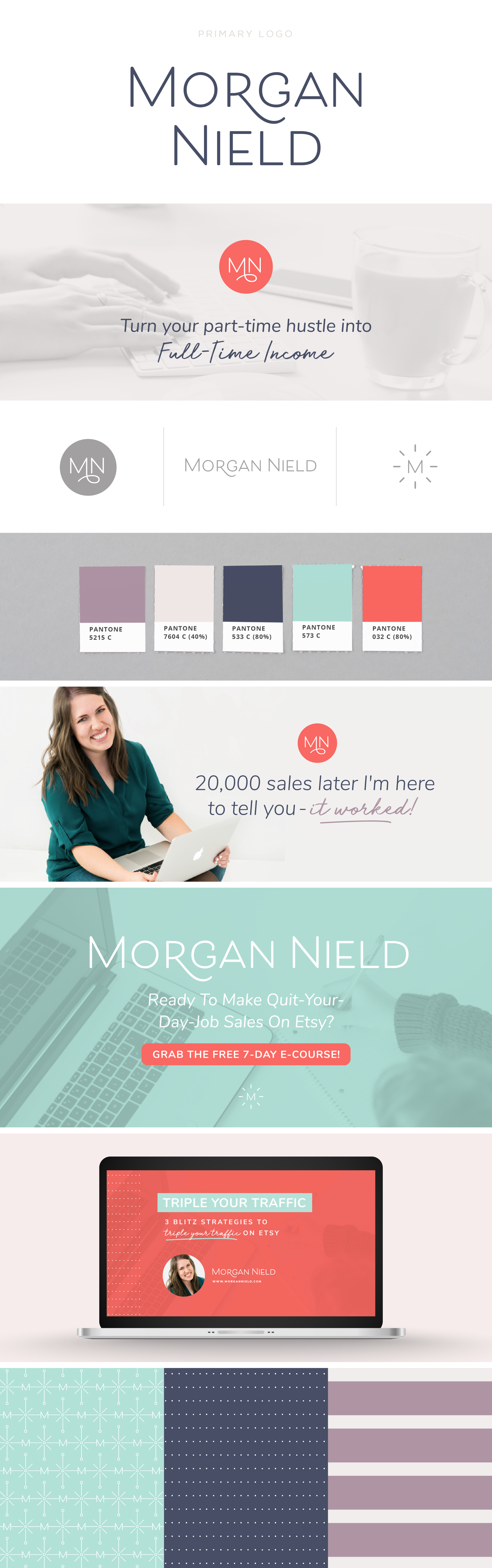 Morgan Nield brand design | Collaboration between Spruce Rd and Pace Creative Design Studio