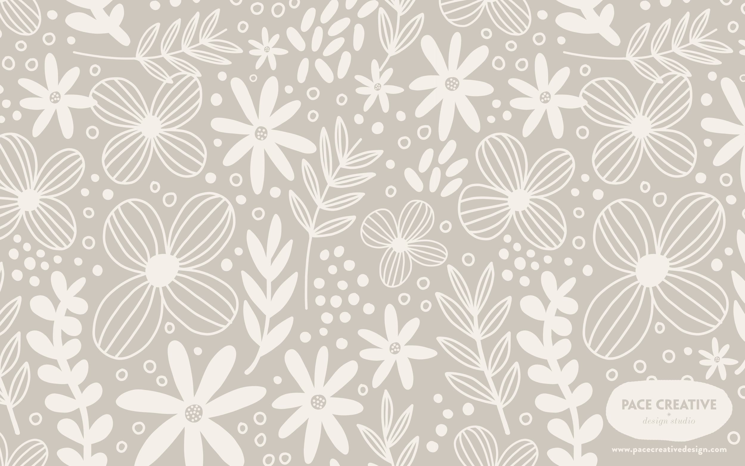 Floral Dreams | Free Desktop Wallpaper design by Pace Creative Design Studio