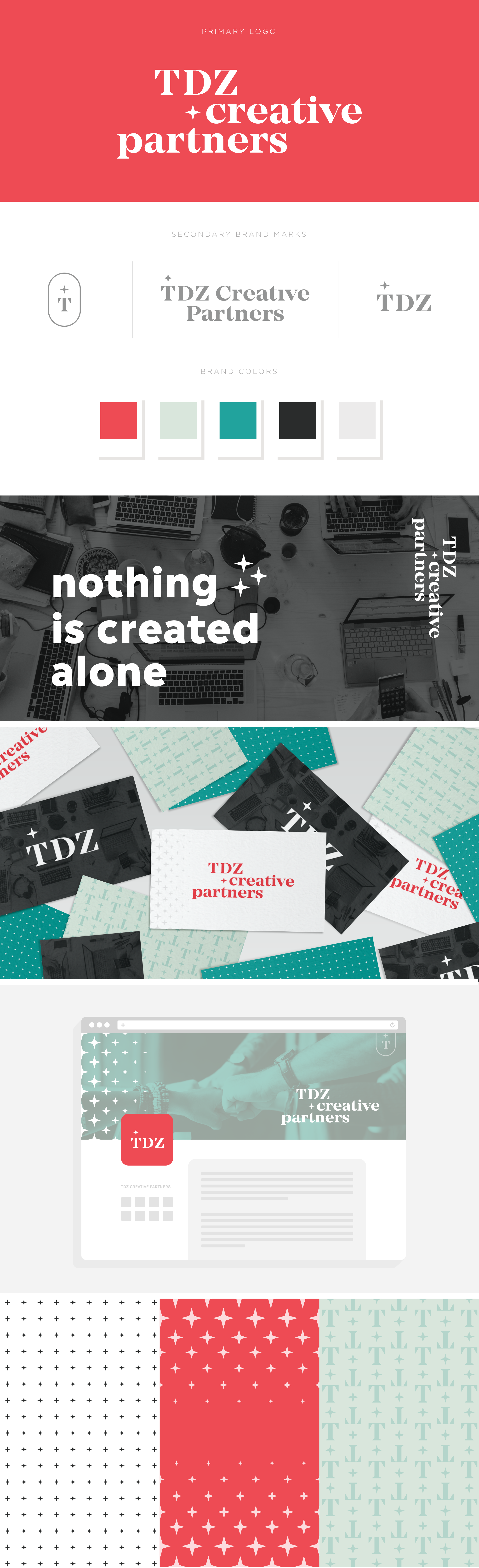 TDZ Creative Partners brand design by Pace Creative Design Studio