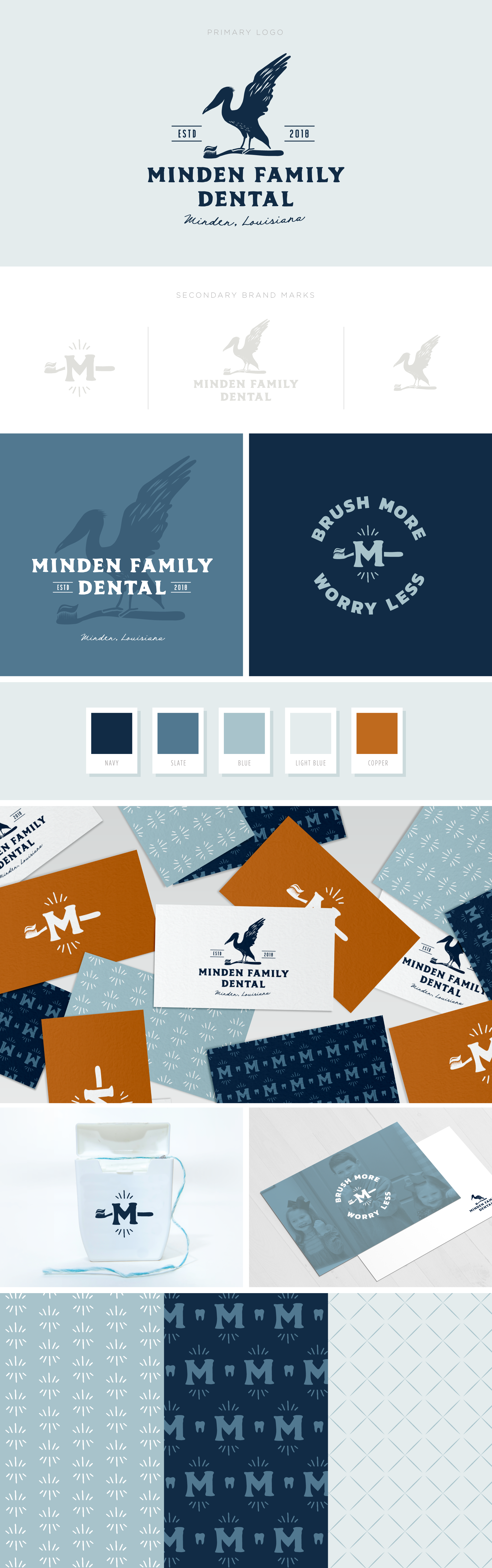Minden Family Dental brand design by Pace Creative Design Studio