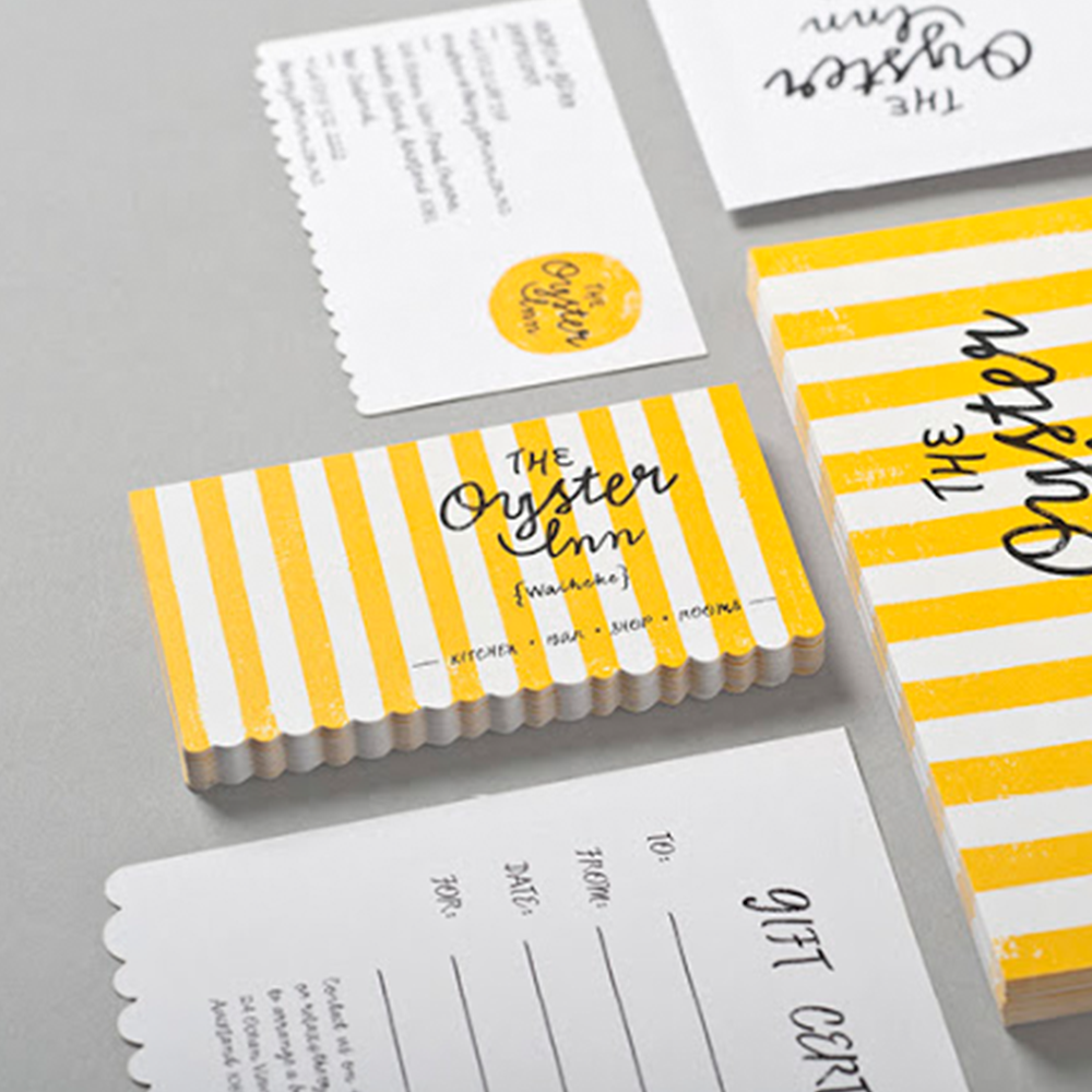 The Oyster Inn brand design