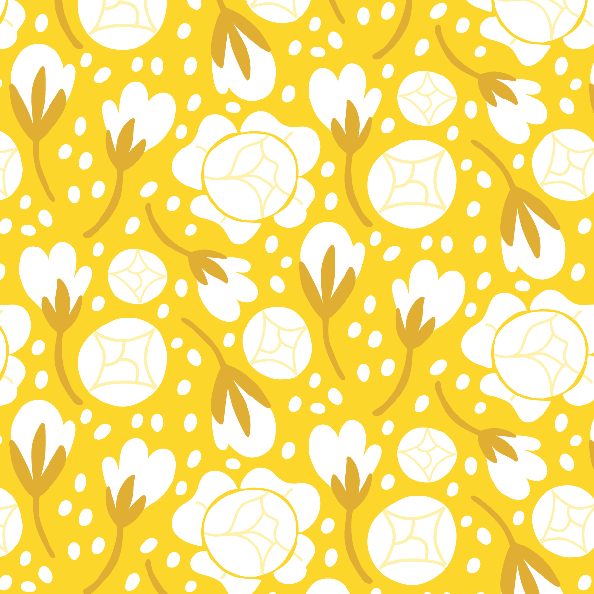 Globe flower pattern | Color Diaries: Yellow by Pace Creative Design Studio