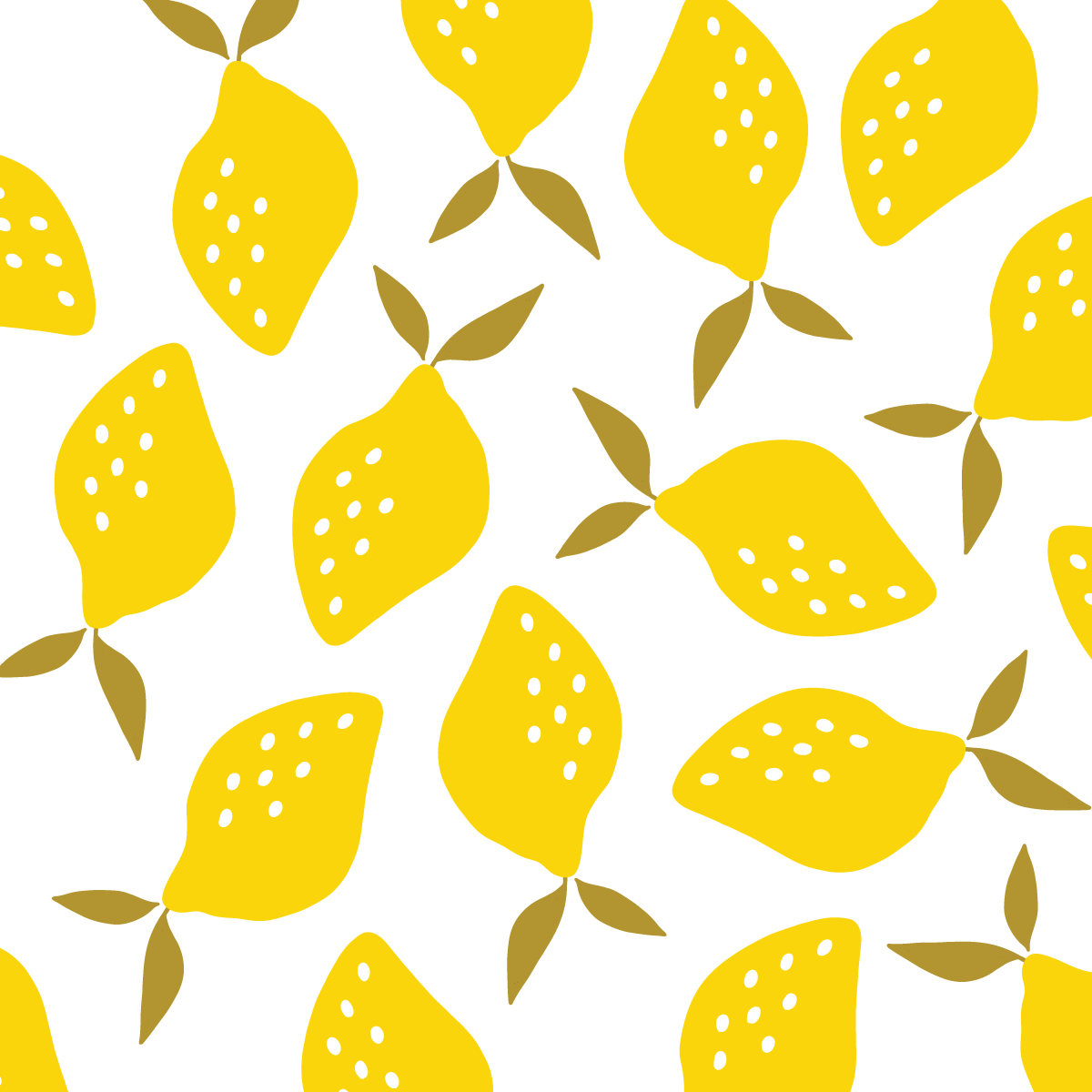 Lemon Yellow Pattern designed by Jen Duran of Pace Creative Design Studio | Color Diaries: Yellow Series
