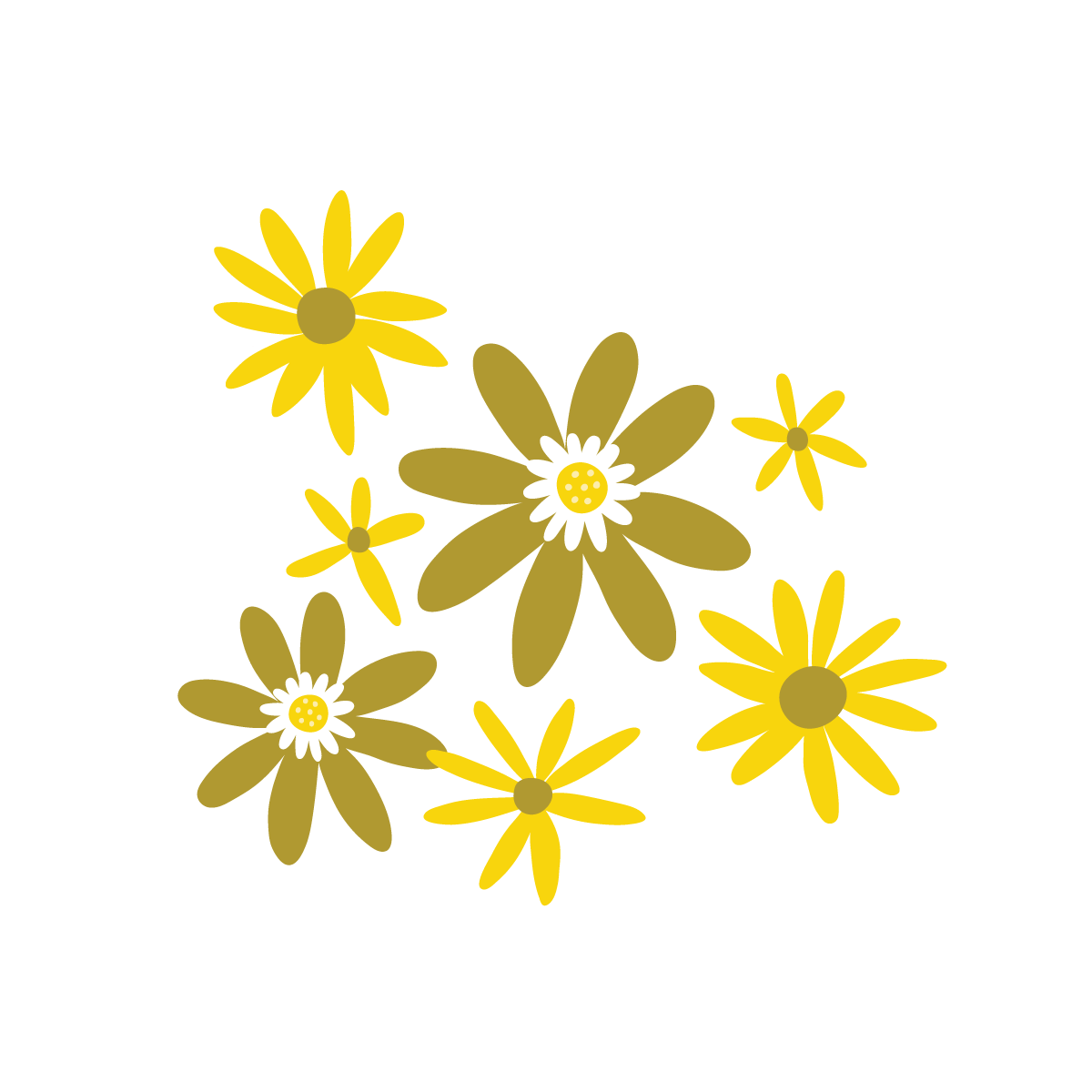 Yellow floral illustration by Jen Duran of Pace Creative Design Studio | Color Diaries: Yellow Series