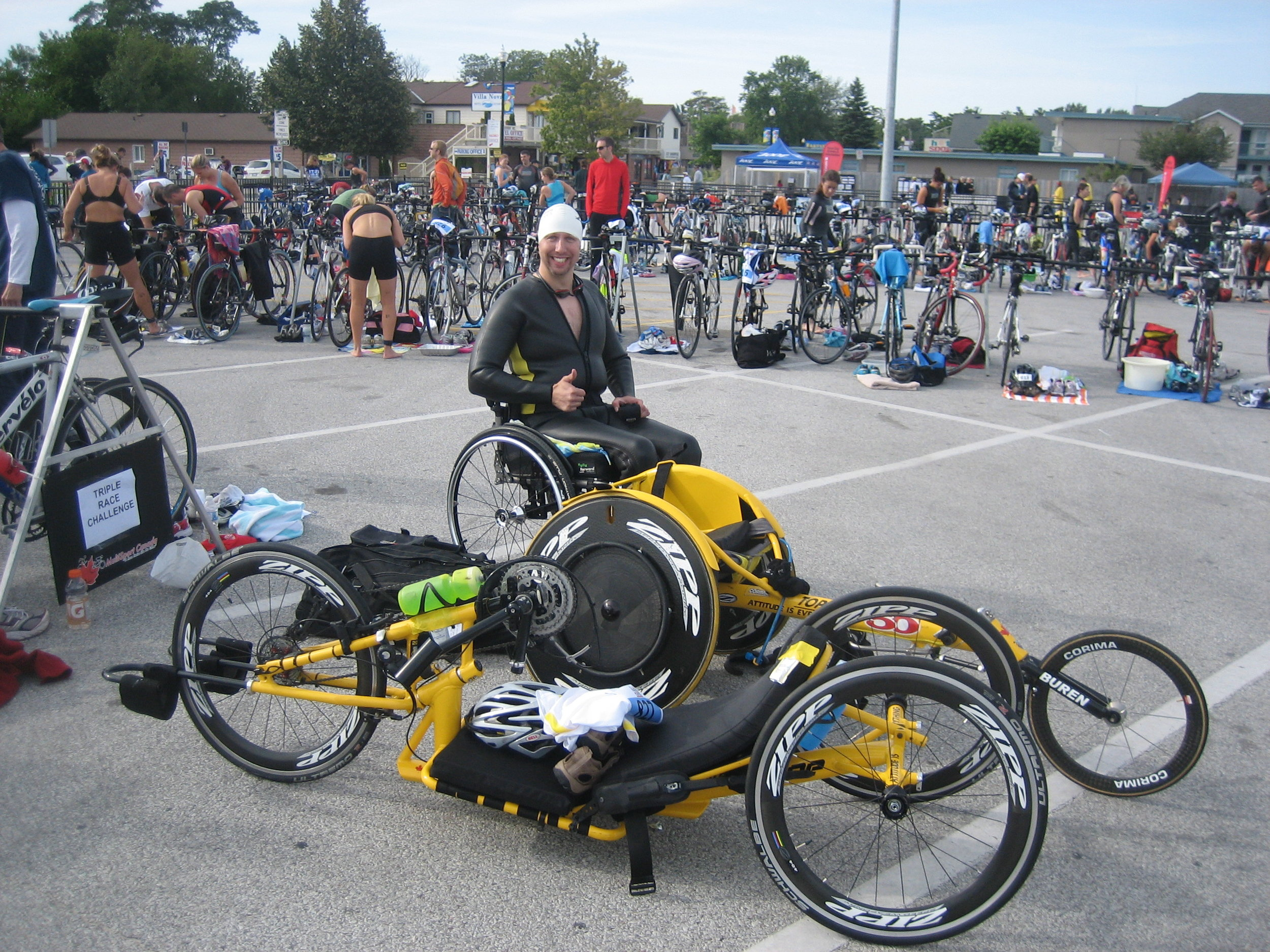 Wasaga Olympic Triathlon, September 2010. My first tri! Not sure if I 'rocked the chair', but I certainly had fun chasing down Peter Carson on the run.