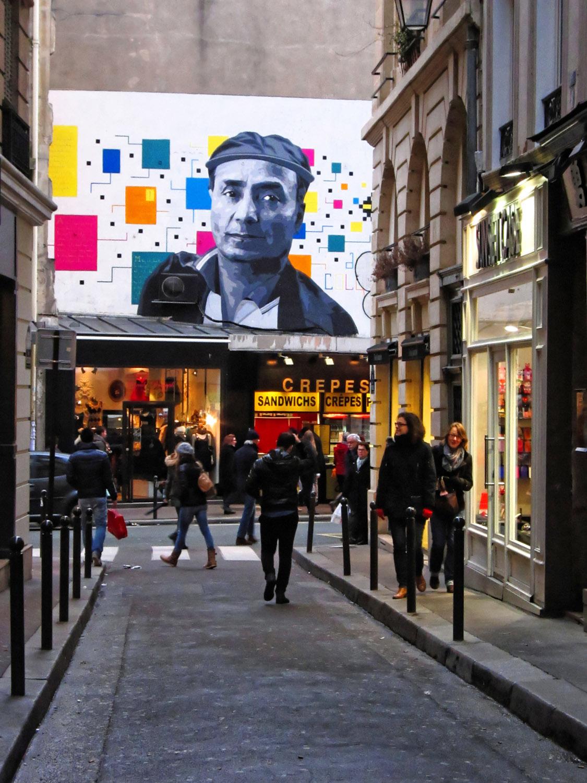 graffiti street art in boulevard saint germain des pres rue gozlin Paris France Europe