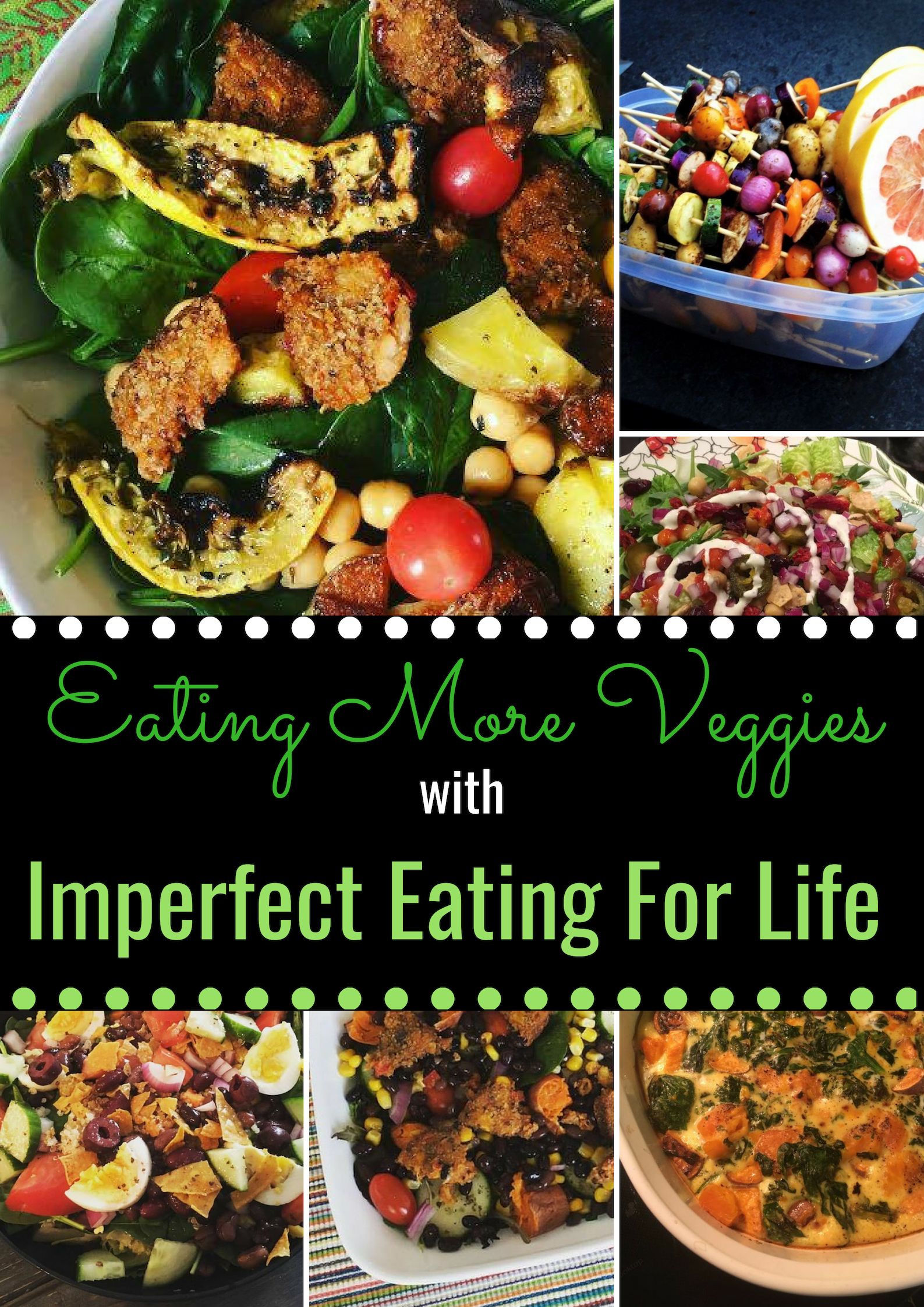 The 3Ps of Imperfect Eating say to eat more PLANTS! - Why? Veggies help us feel full, the fiber expands in our stomachs, the chewing slows down a meal and helps extend a meal to 20 minutes, and they energize us.Click here to grab your copy here.
