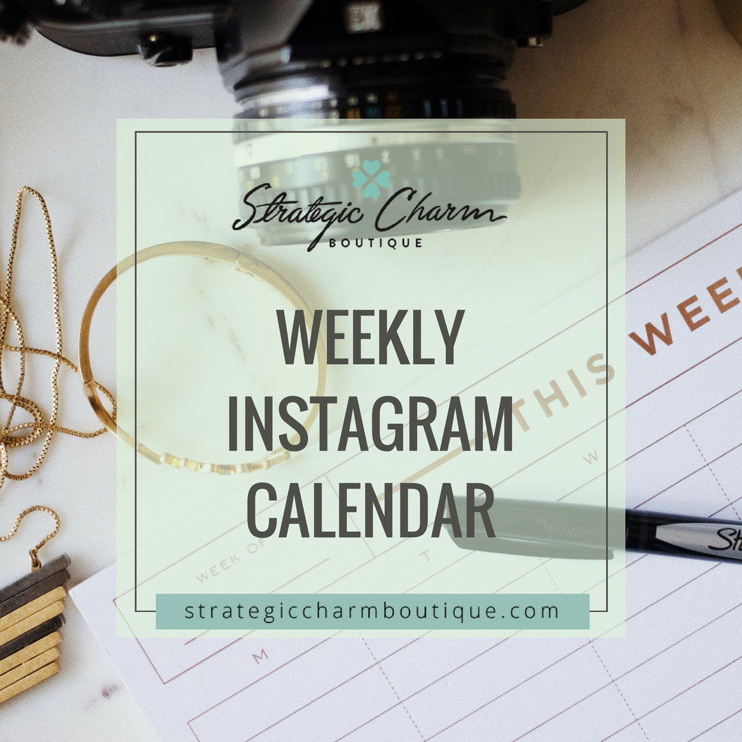 Plan your Instagram content a week in advance.