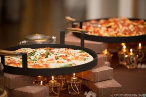 Pizza wedding station