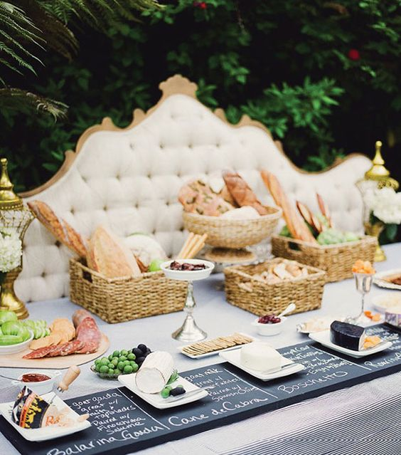 Bread & Cheese food station.