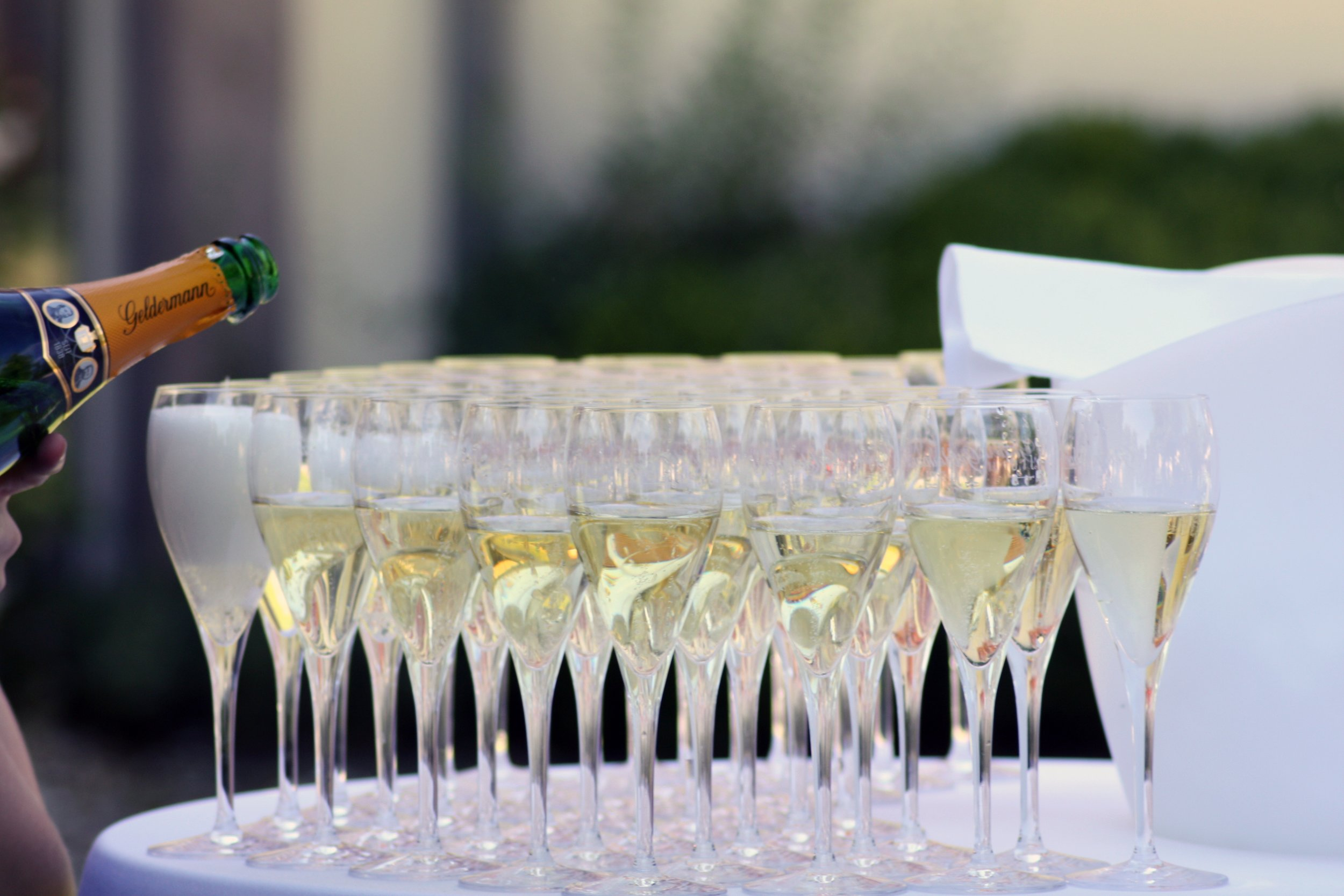 champagne at an event
