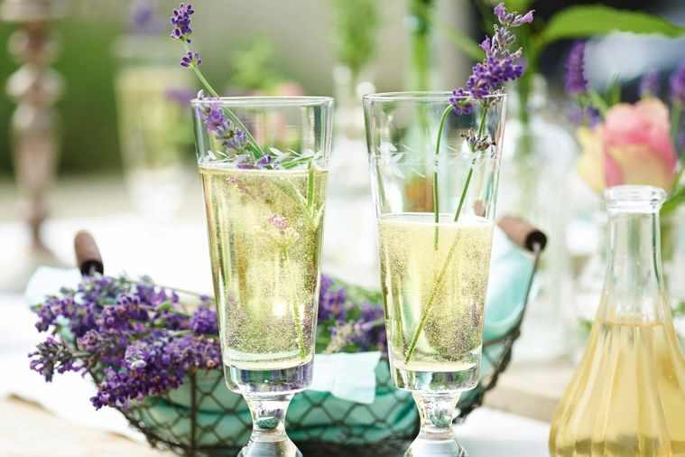 Lavender Infused Champagne