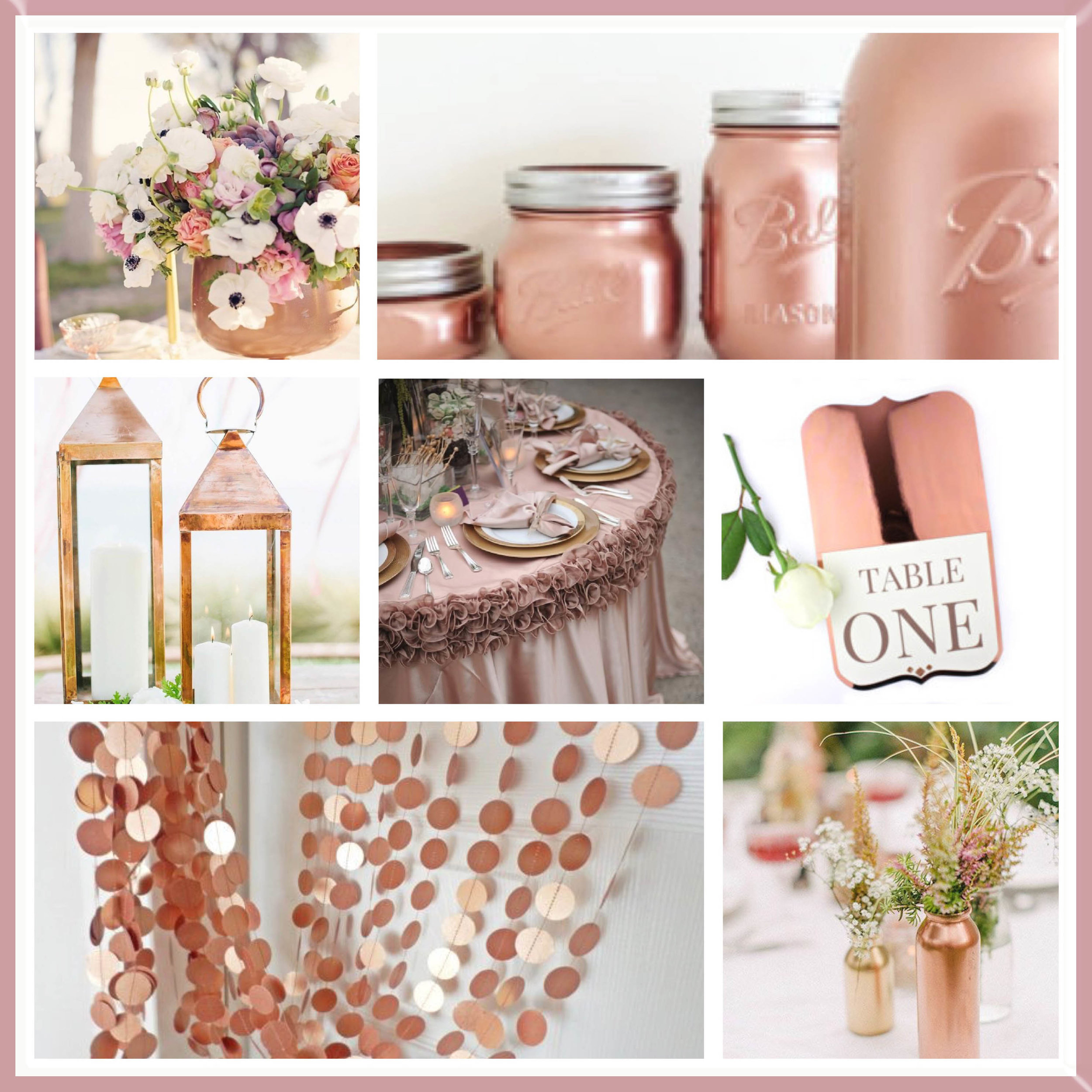 Rose Gold moodboard designed by Luxe by Minihaha & co.