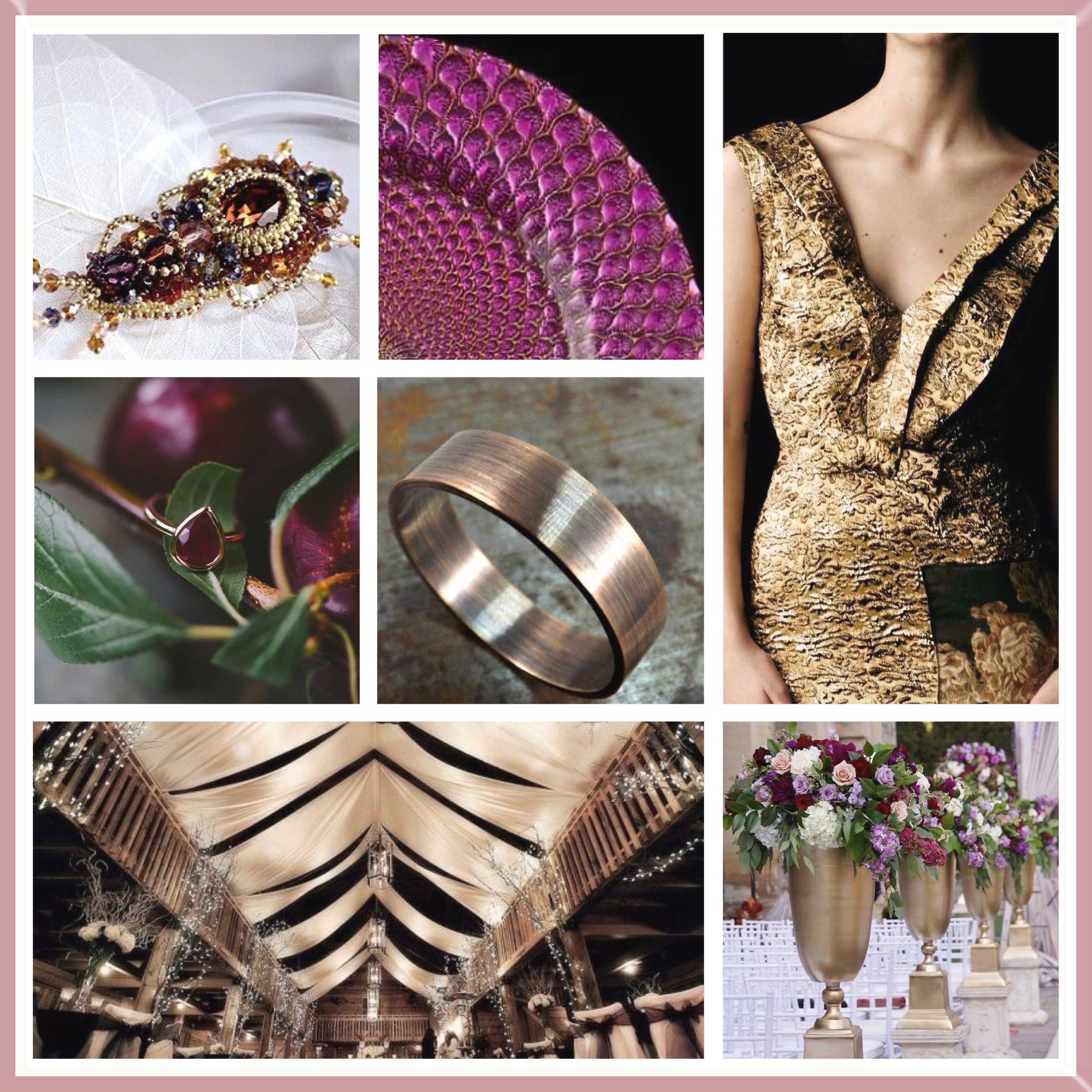 Plum & Gold moodboard designed by Luxe by Minihaha & co.