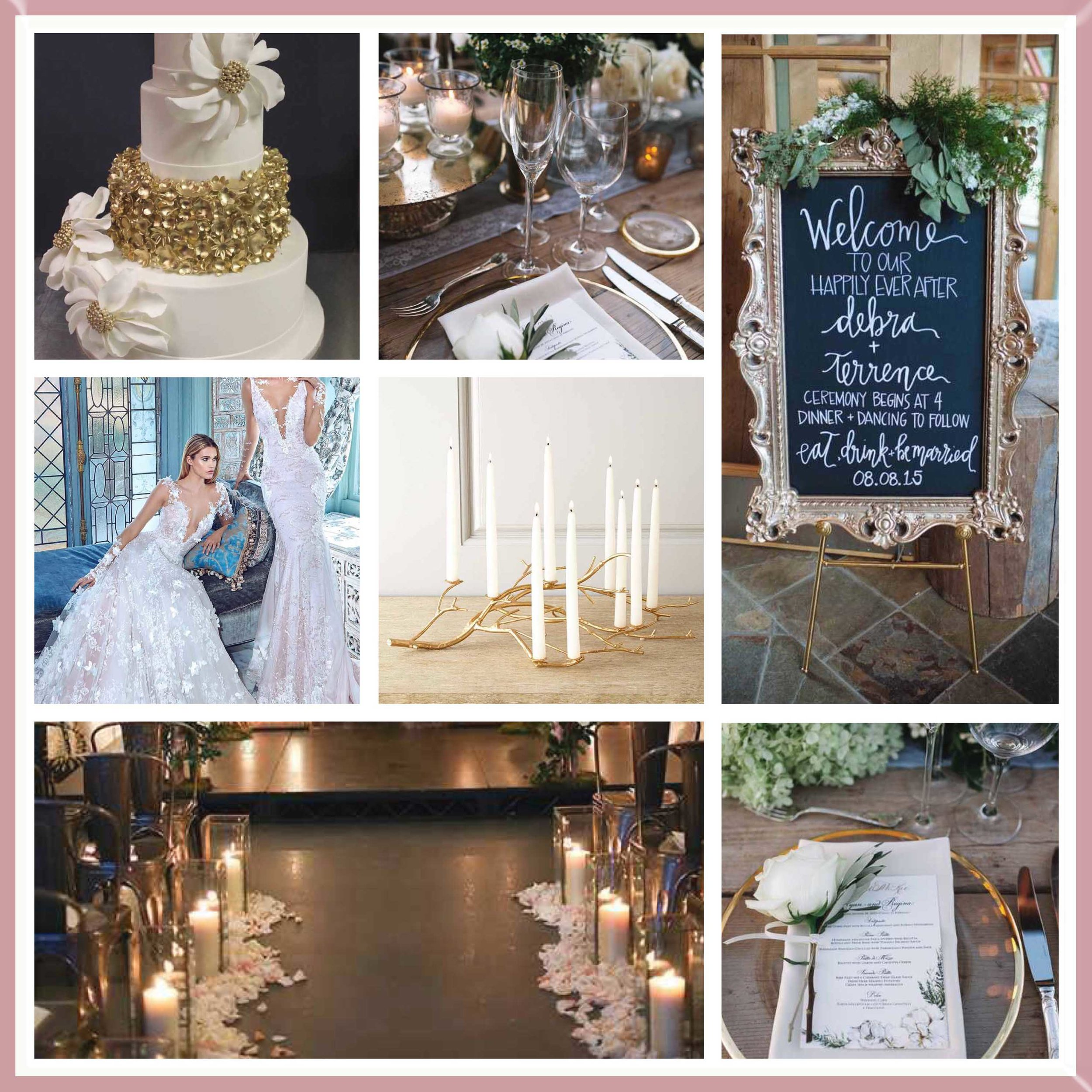 Metallic Gold & Bronze mood board designed by Luxe by Minihaha & co.