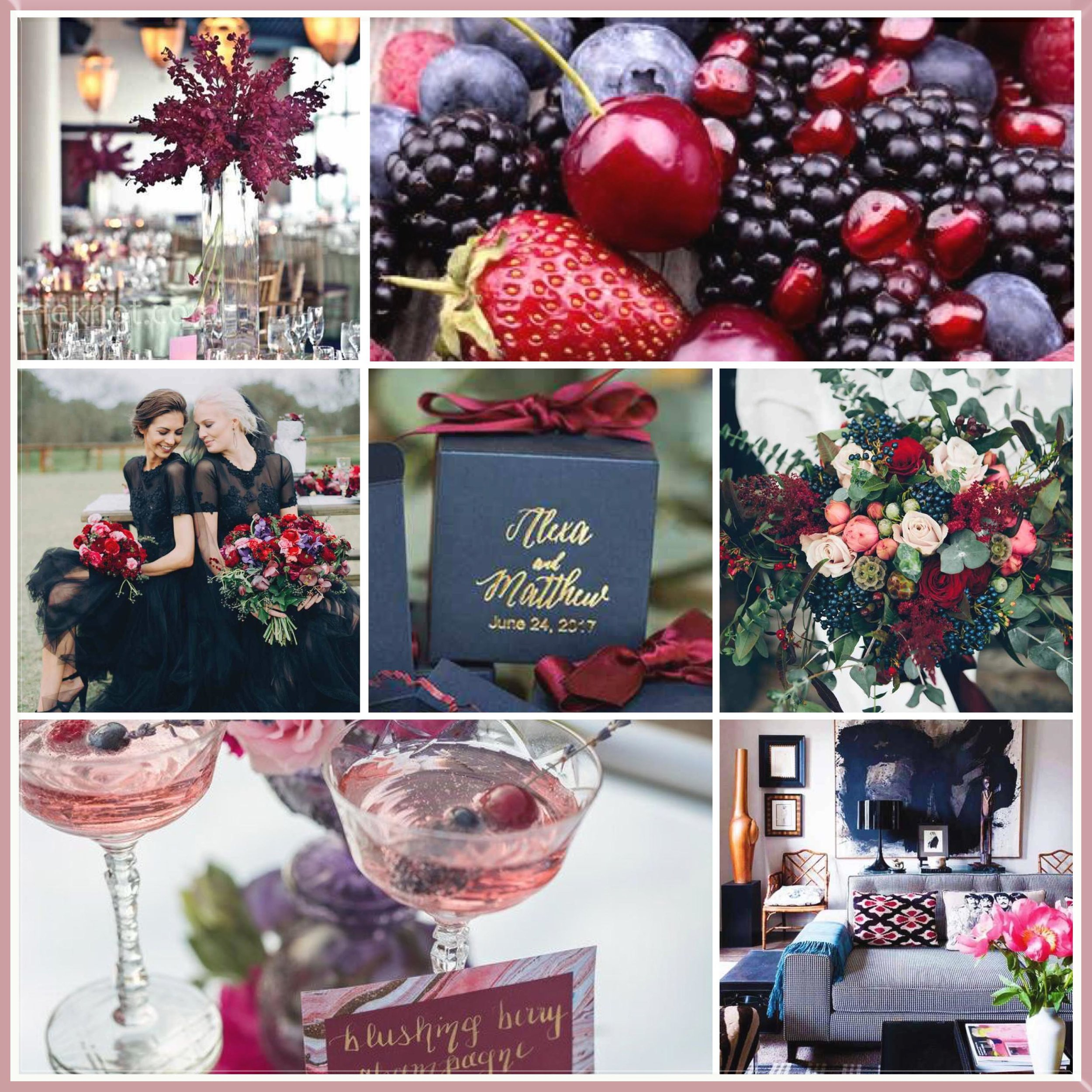 Berry & Navy mood board designed by Luxe by Minihaha & co.