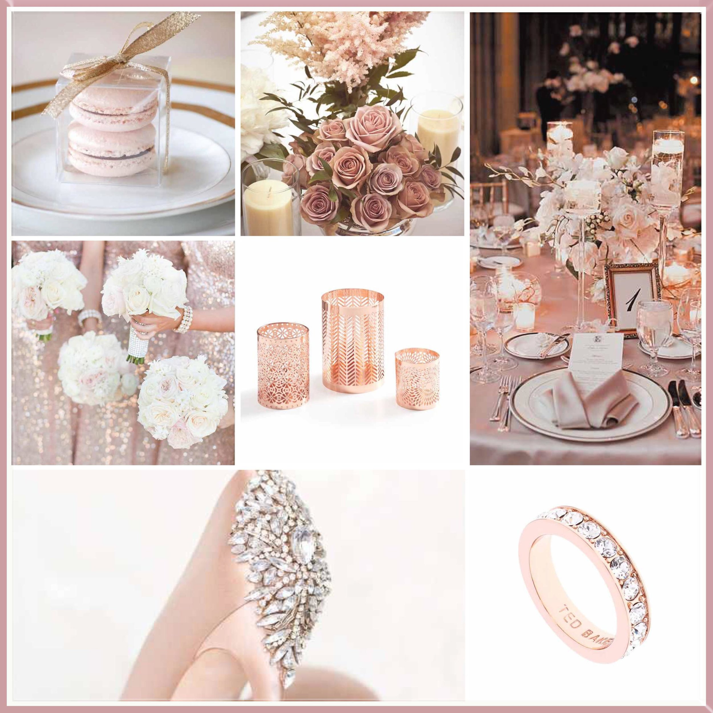 Rose moodboard designed by Luxe by Minihaha & co.