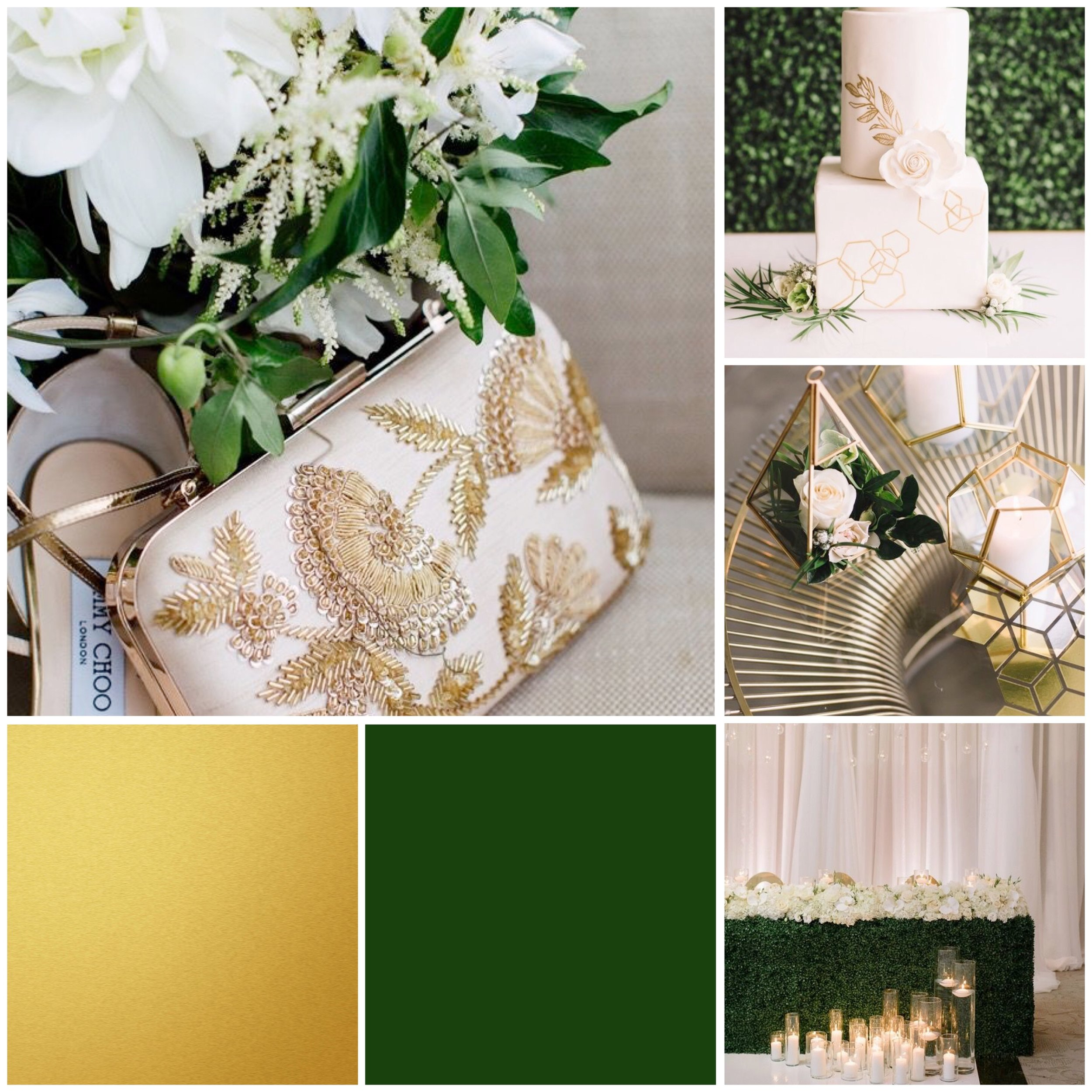 Green & Gold mood board designed by Luxe by Minihaha & co.