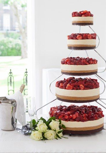 Wedding cheesecake.