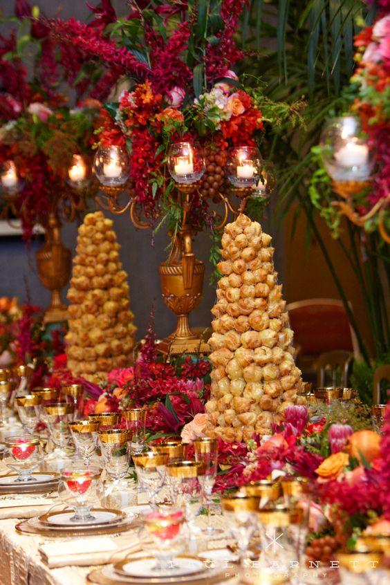 Wedding croquembouche