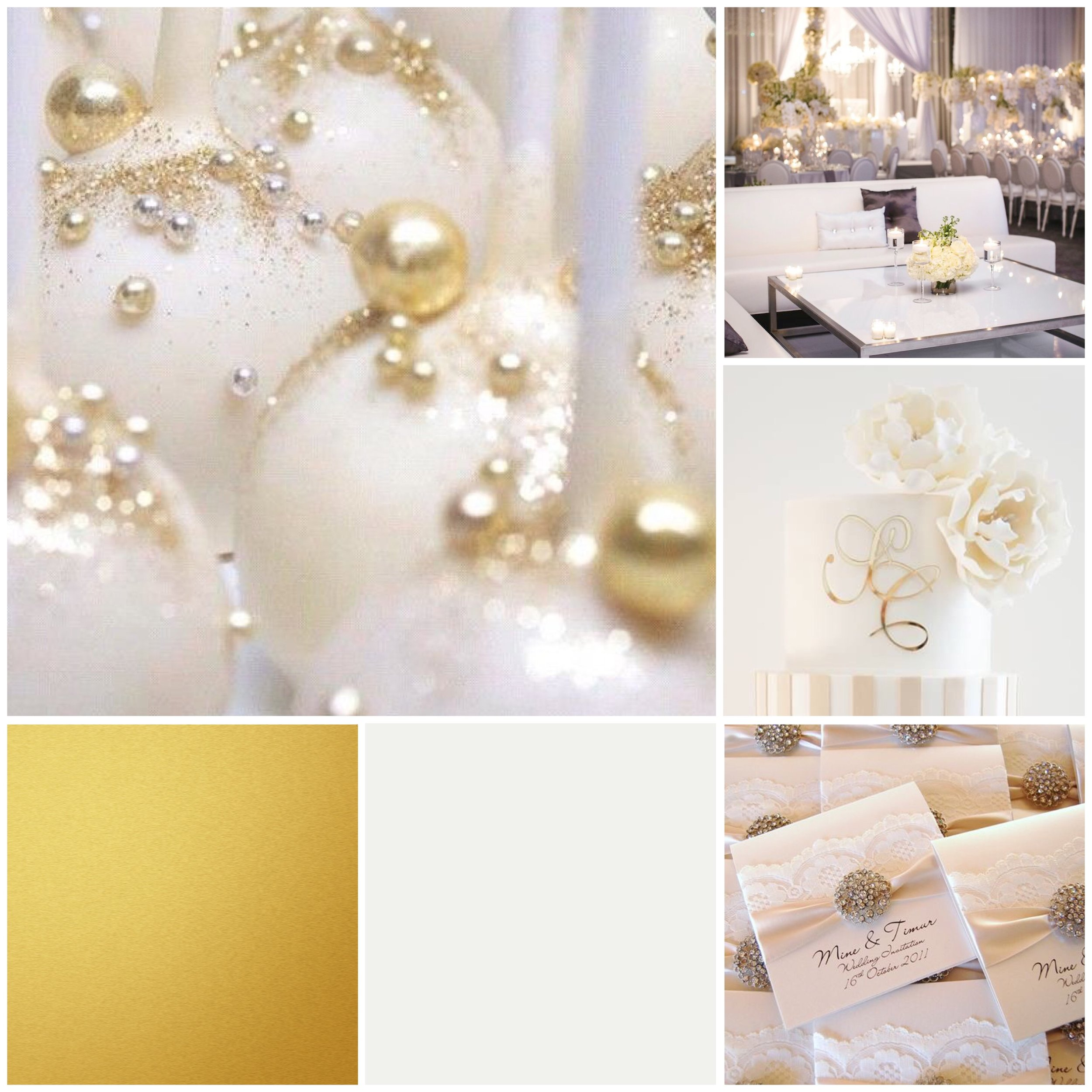 Wedding moodboard designed by wedding planner in Leeds
