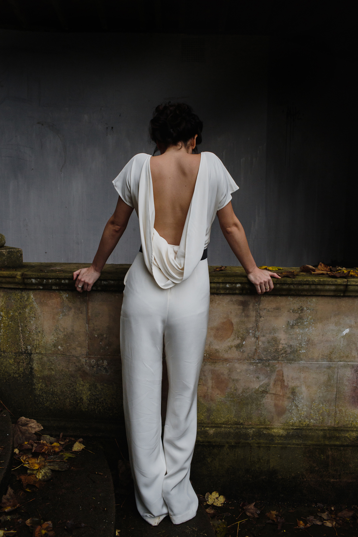 Luxury bride in a jumpsuit