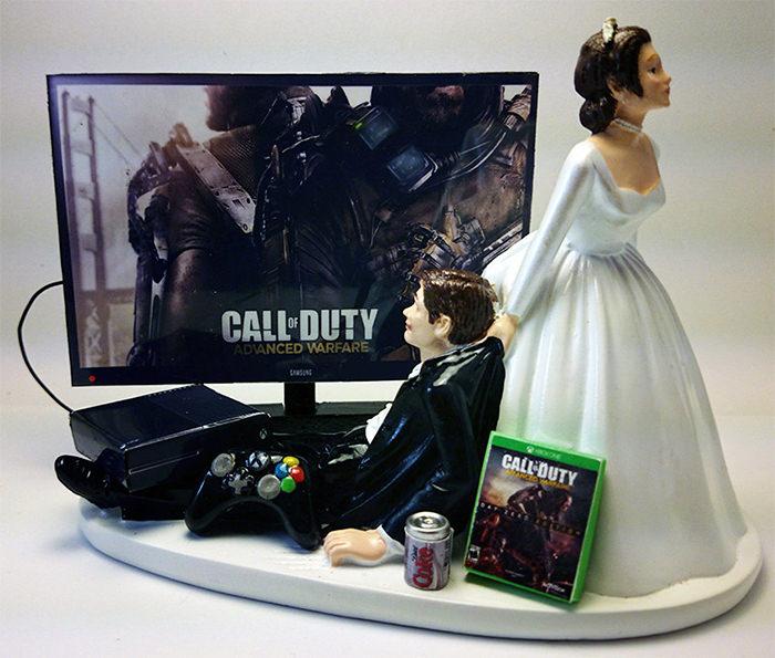 call of duty wedding cake topper