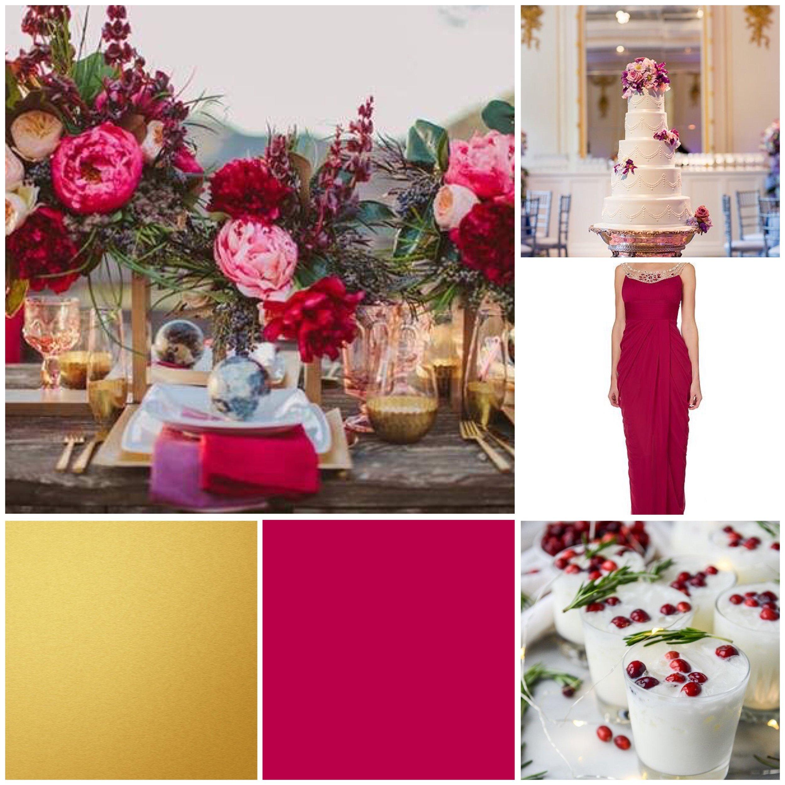 cranberry wedding moodboard for a wedding