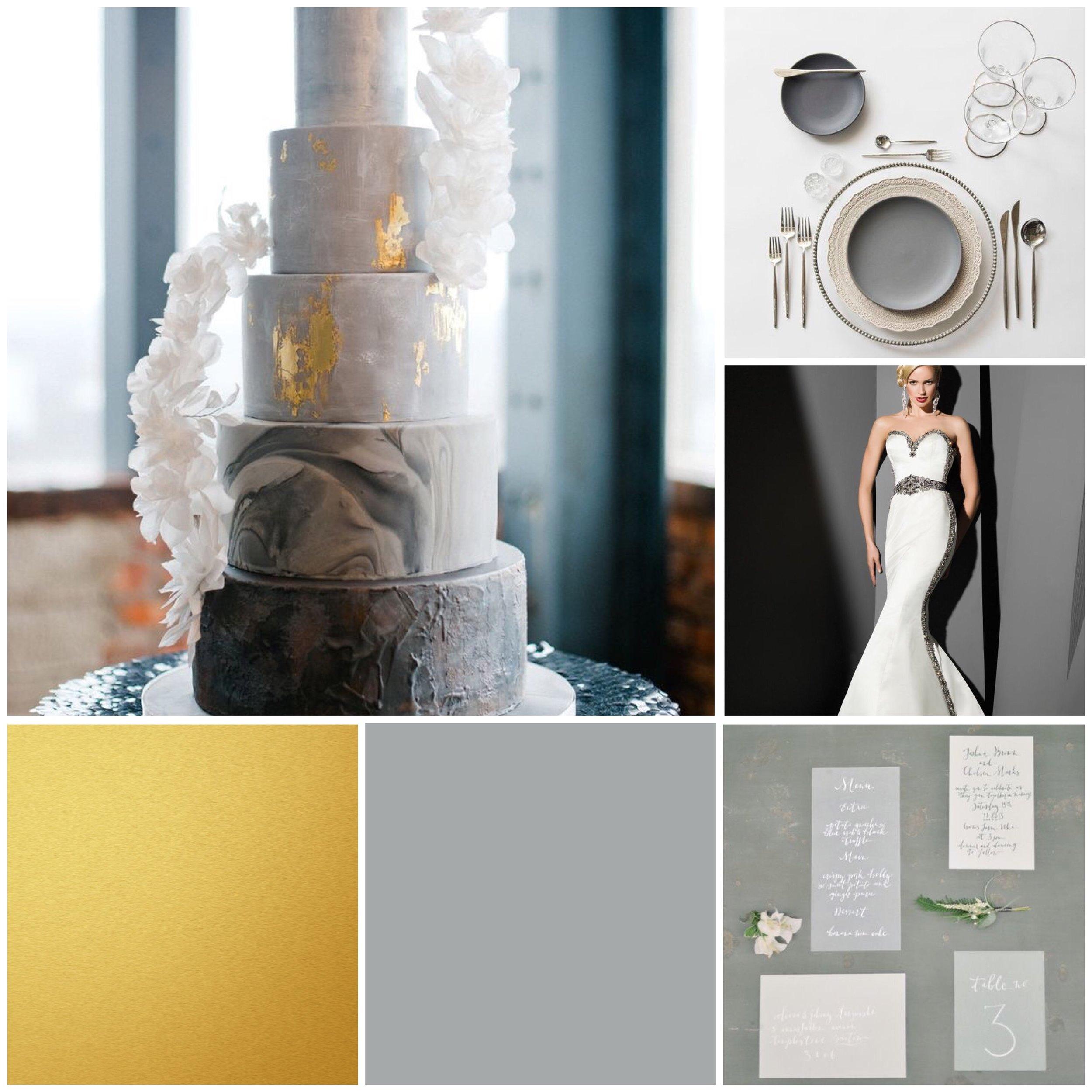 grey wedding moodboard for a wedding