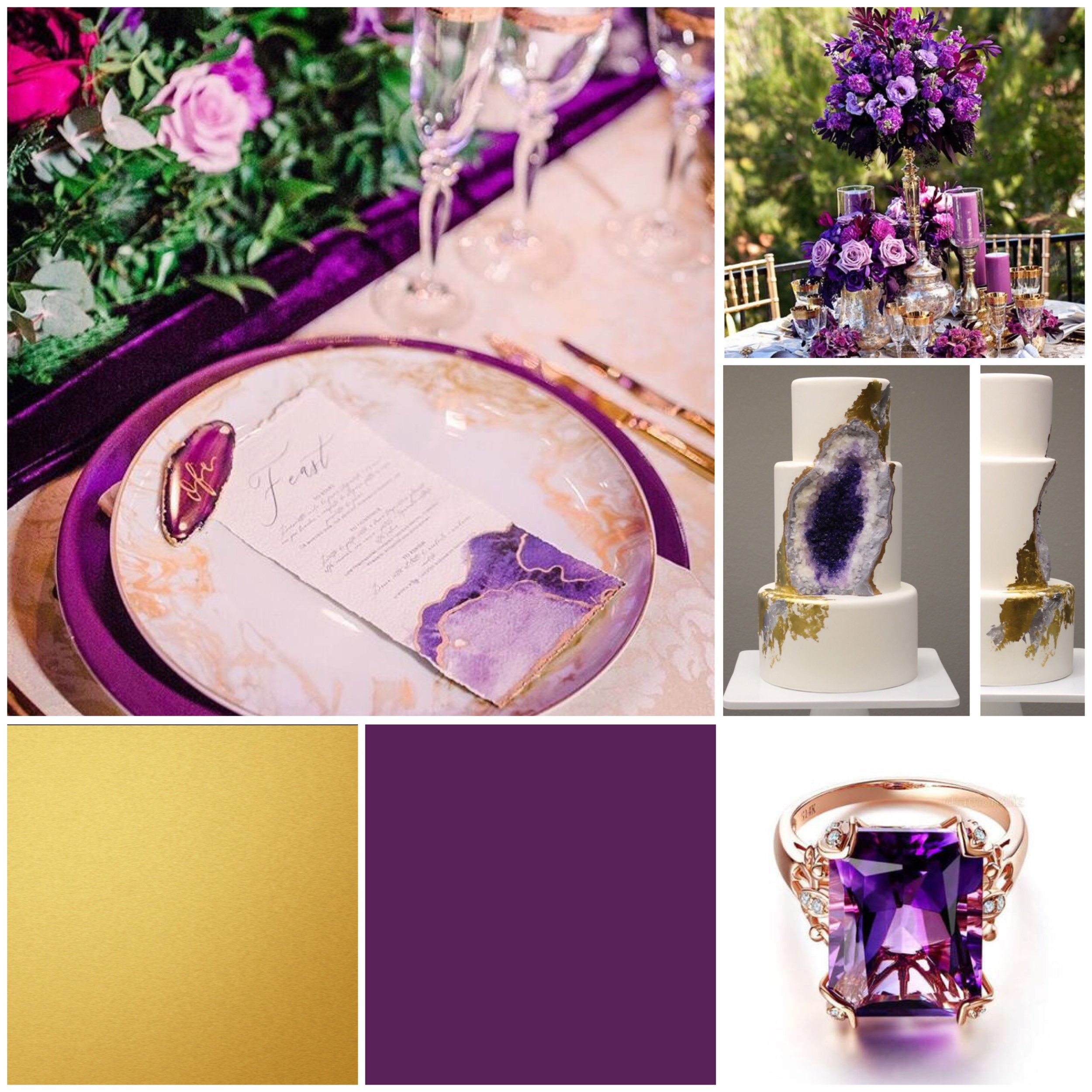 purple wedding moodboard for a wedding