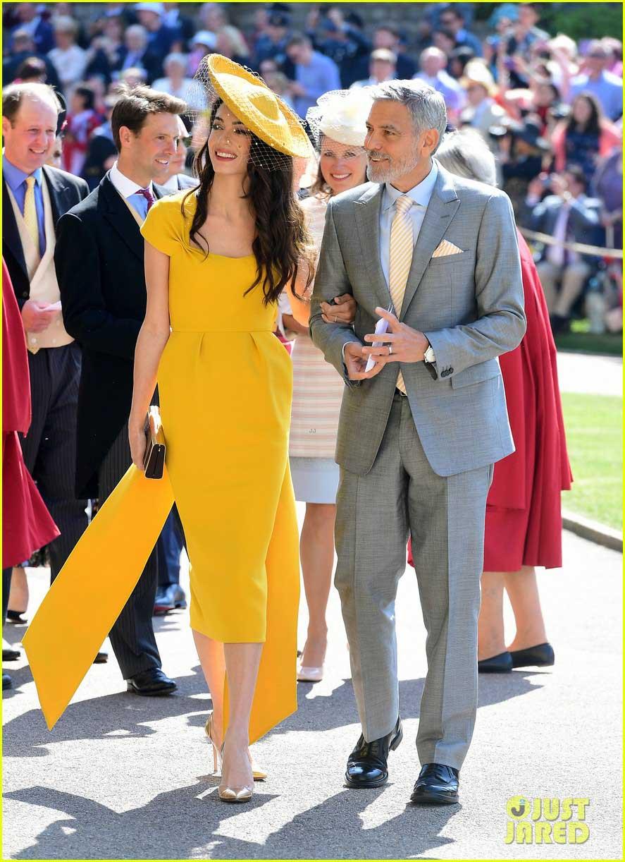 George and Amal Clooney at Royal Wedding