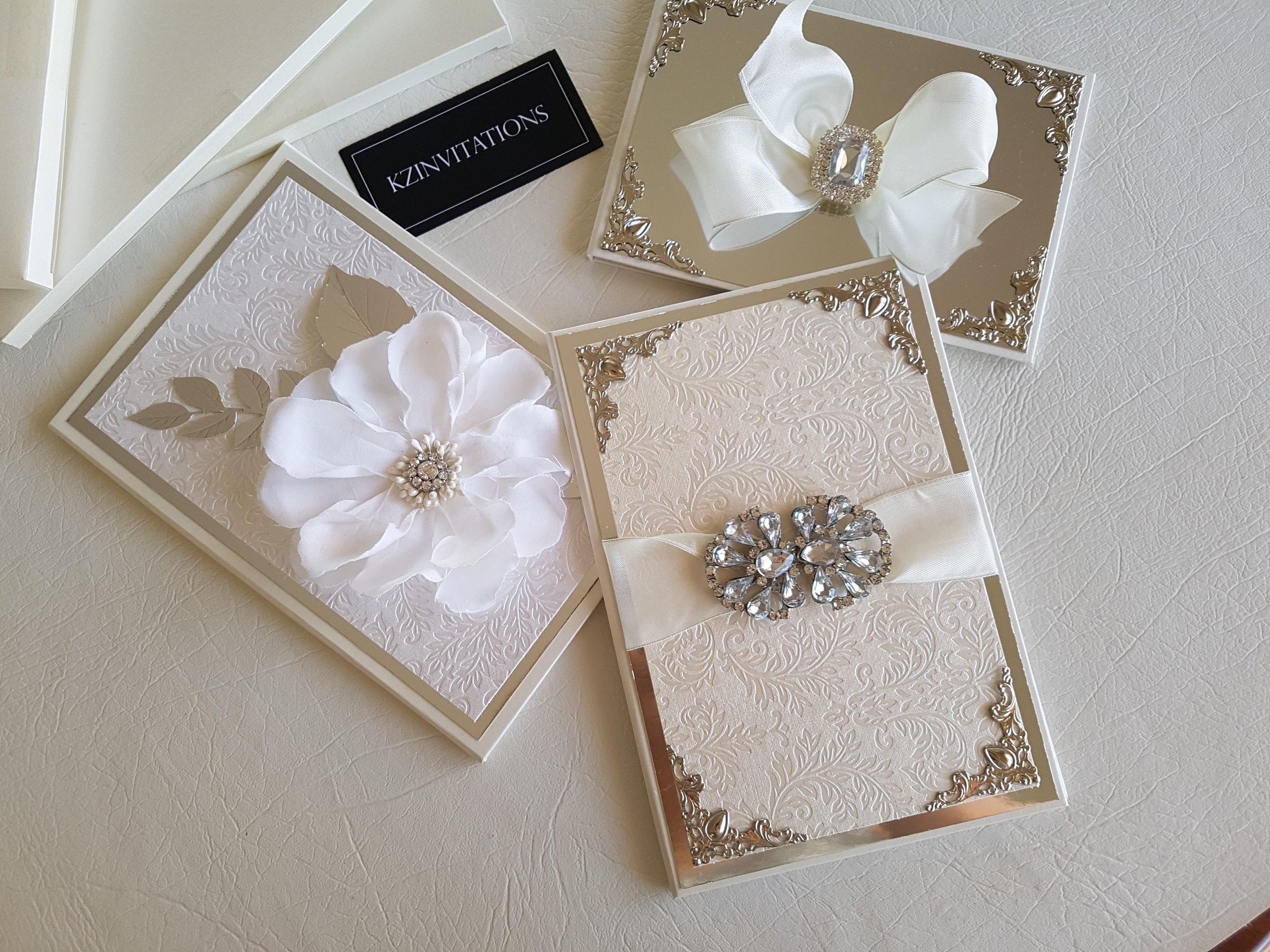 KZ luxury wedding invitations.