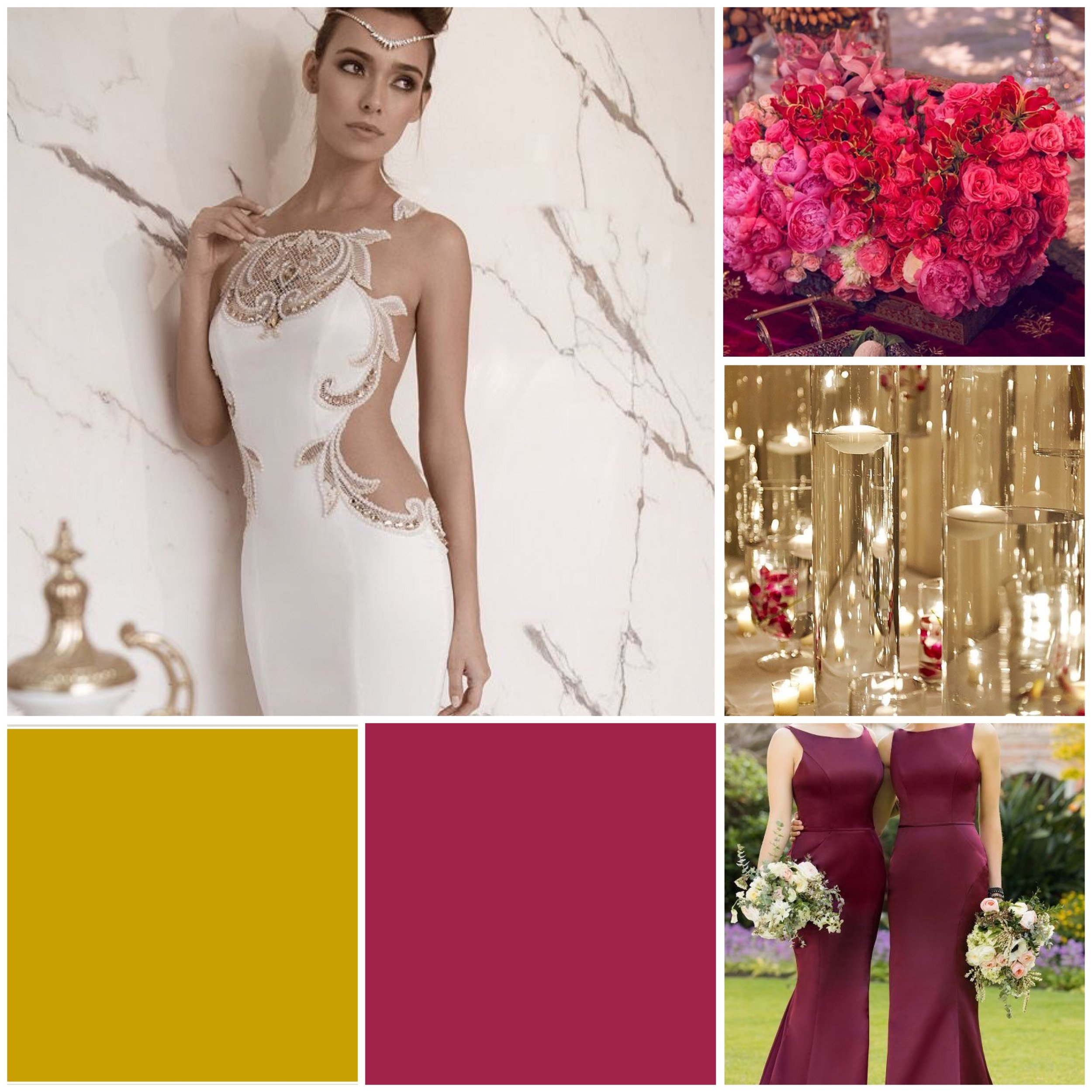 Persian Red and Gold wedding moodboard