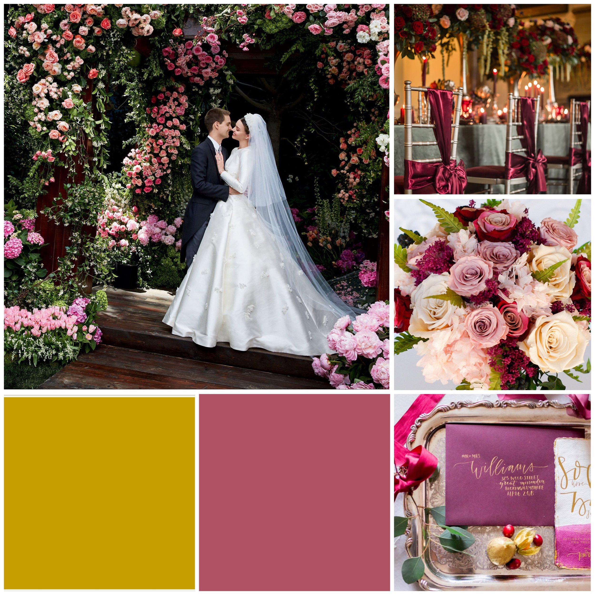 Baroque Rose & Gold Moodboard for your wedding inspiration.