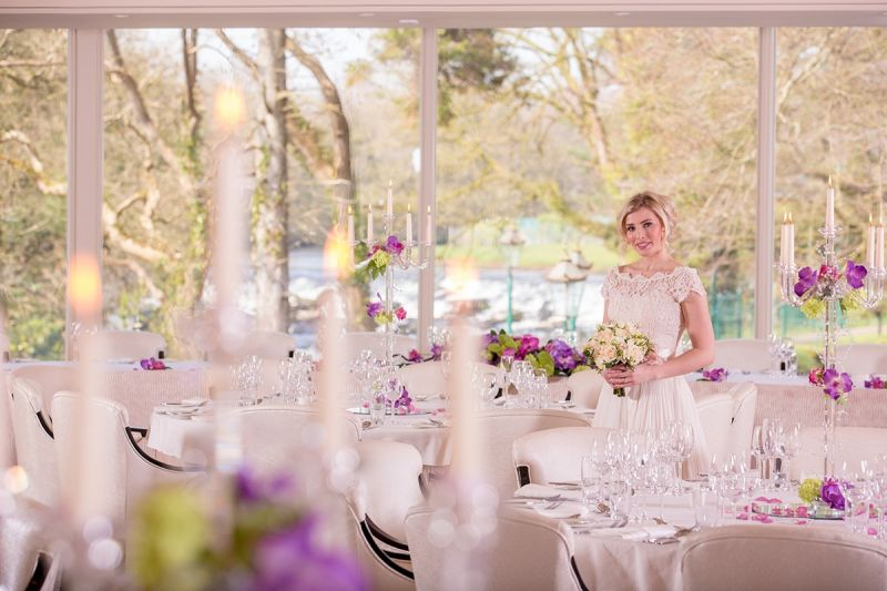 bride at Galgorm resort & spa.