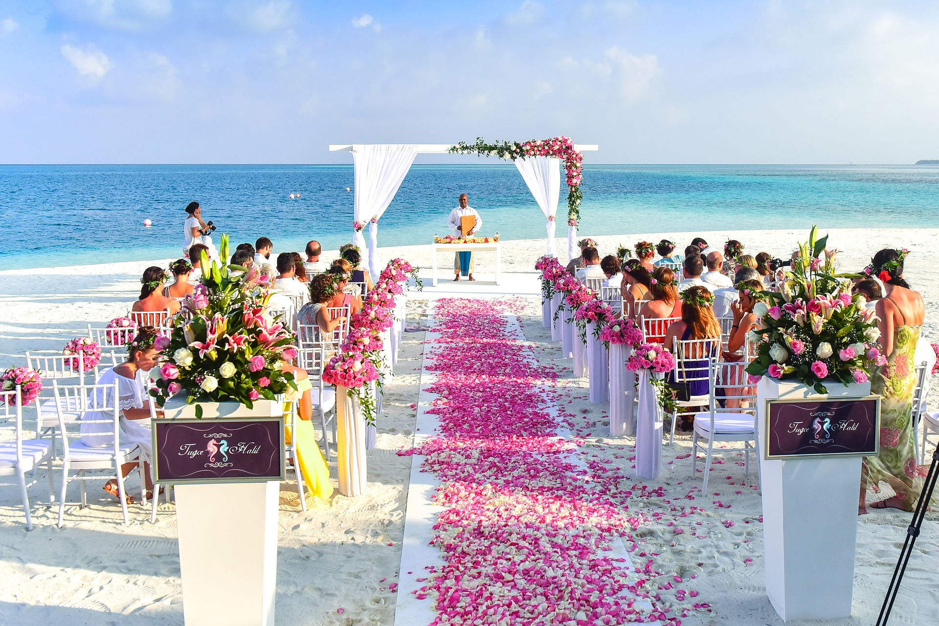 beach outdoor wedding