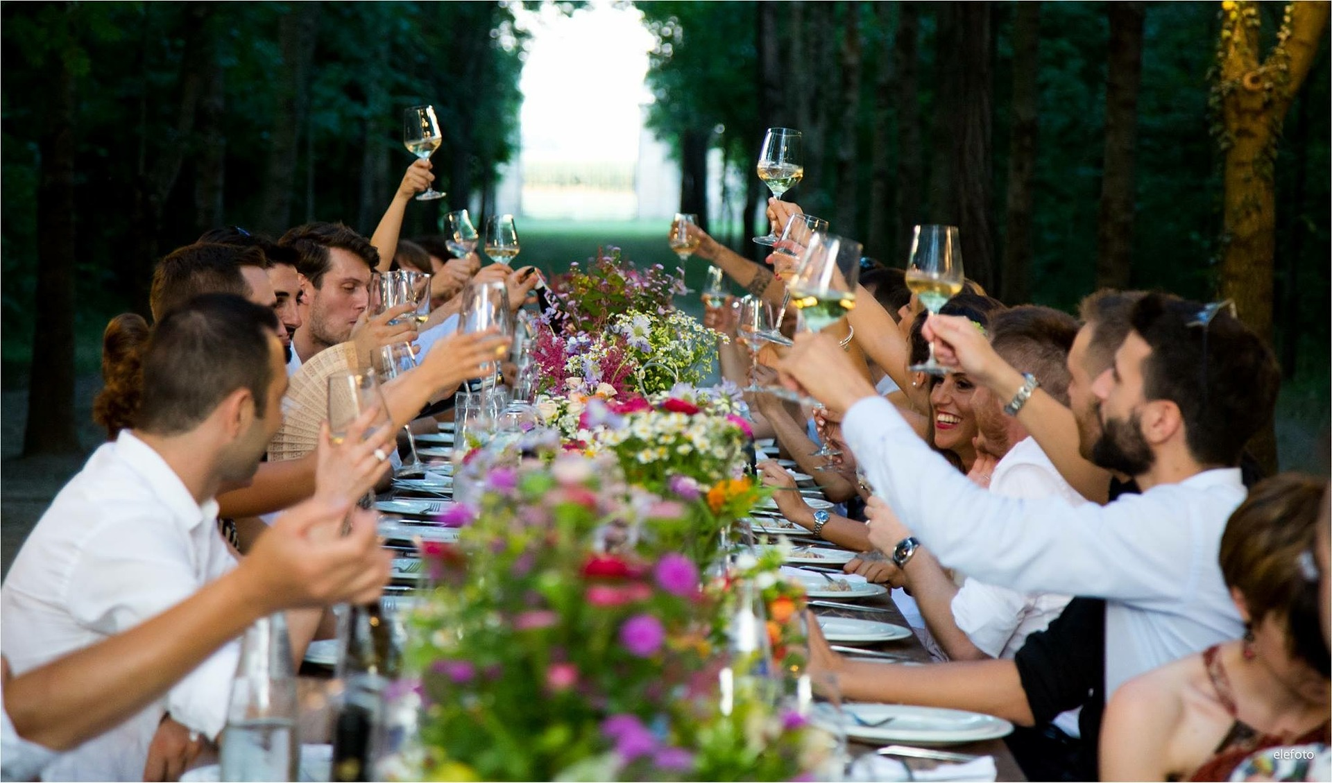 luxury wedding toast