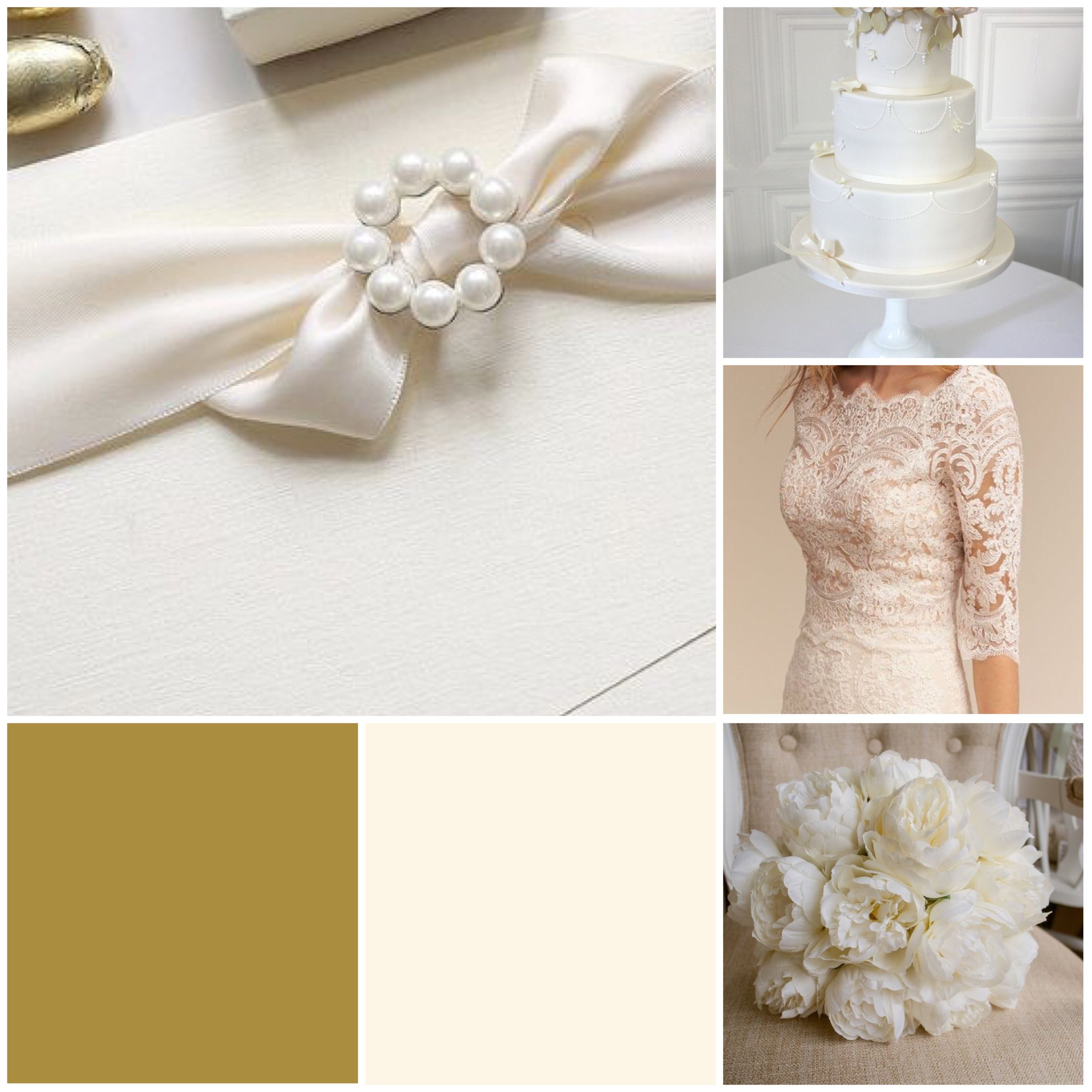Lace & Gold Moodboard for your wedding inspiration.