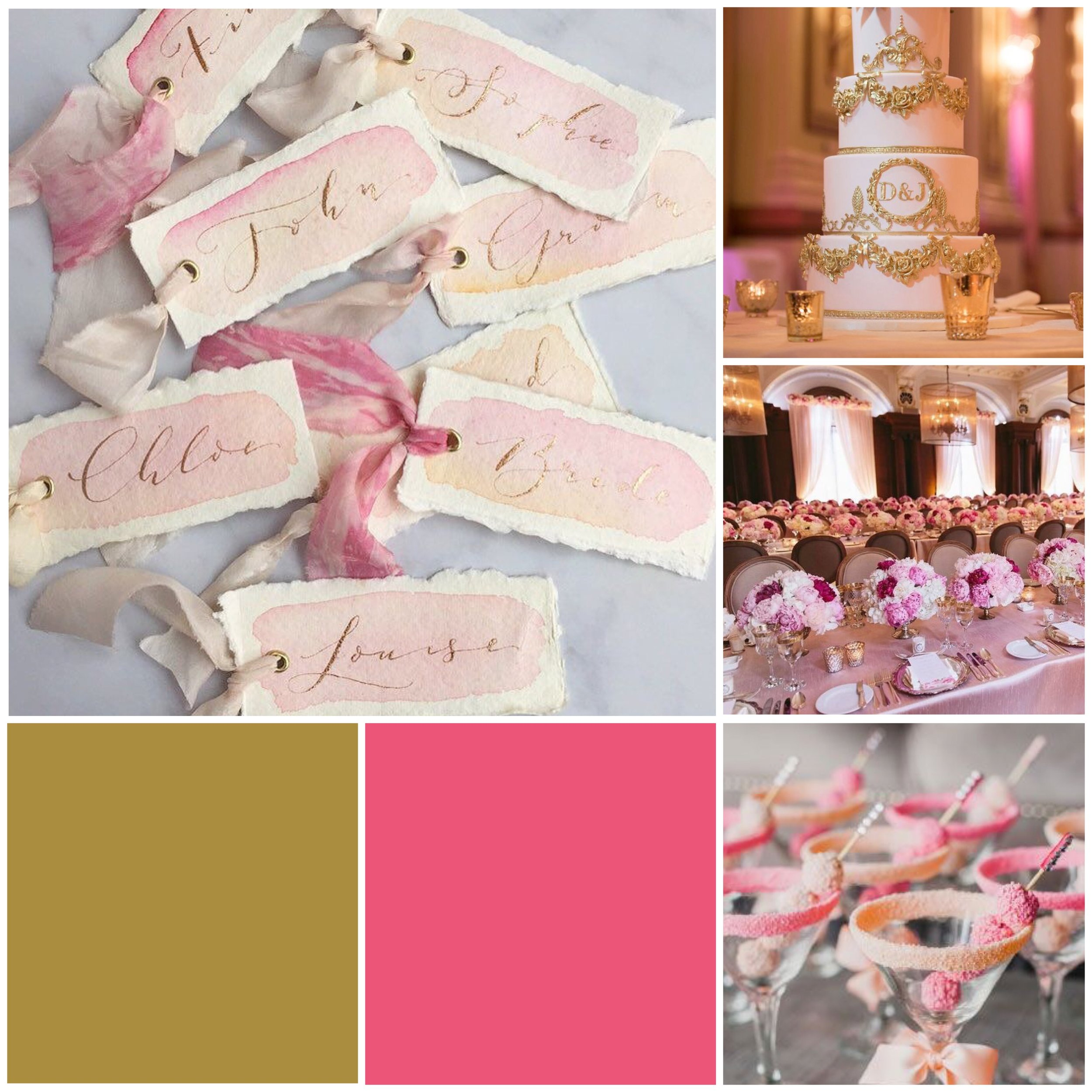 Punch & Gold Moodboard for your wedding inspiration.