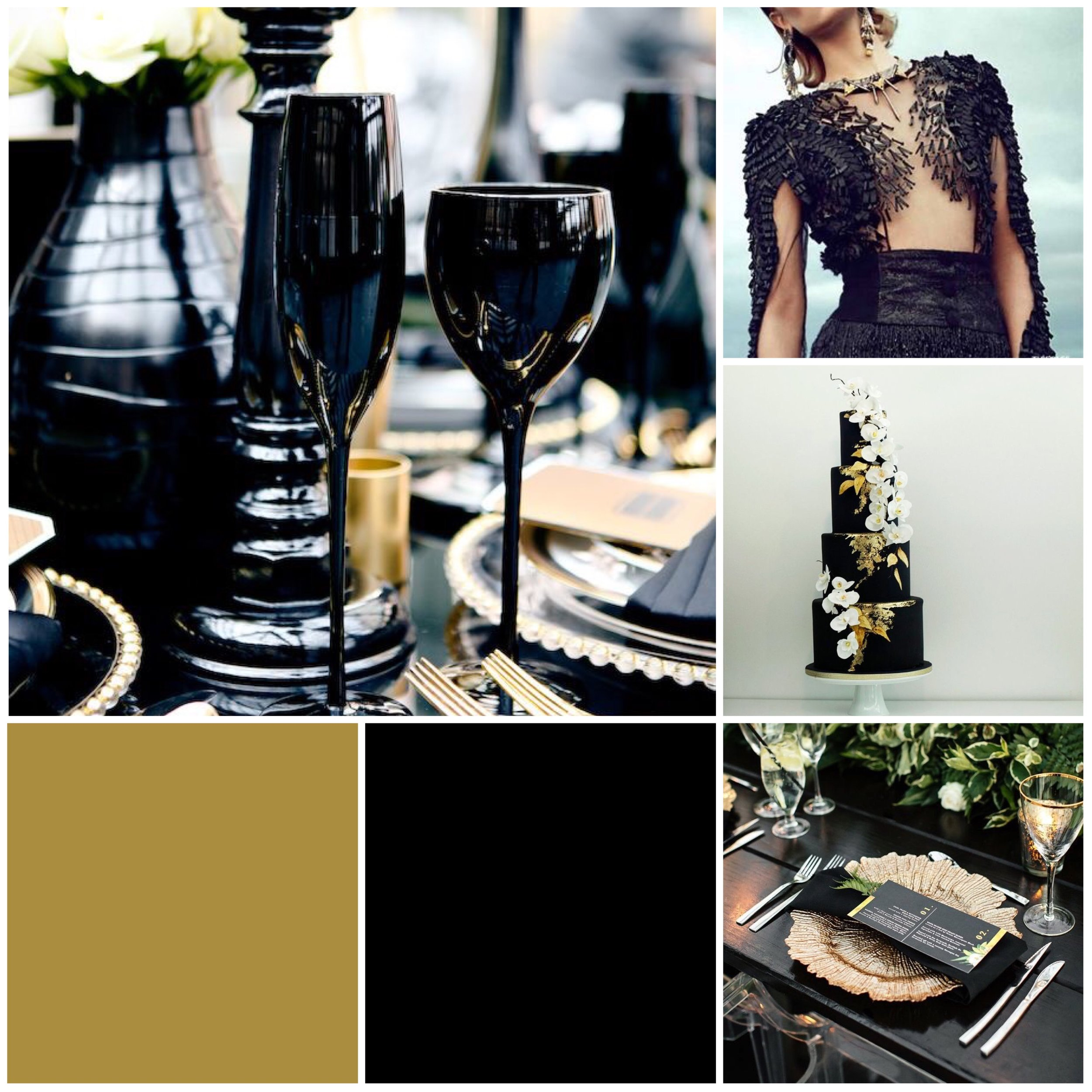 Coal & Gold Moodboard for your wedding inspiration.