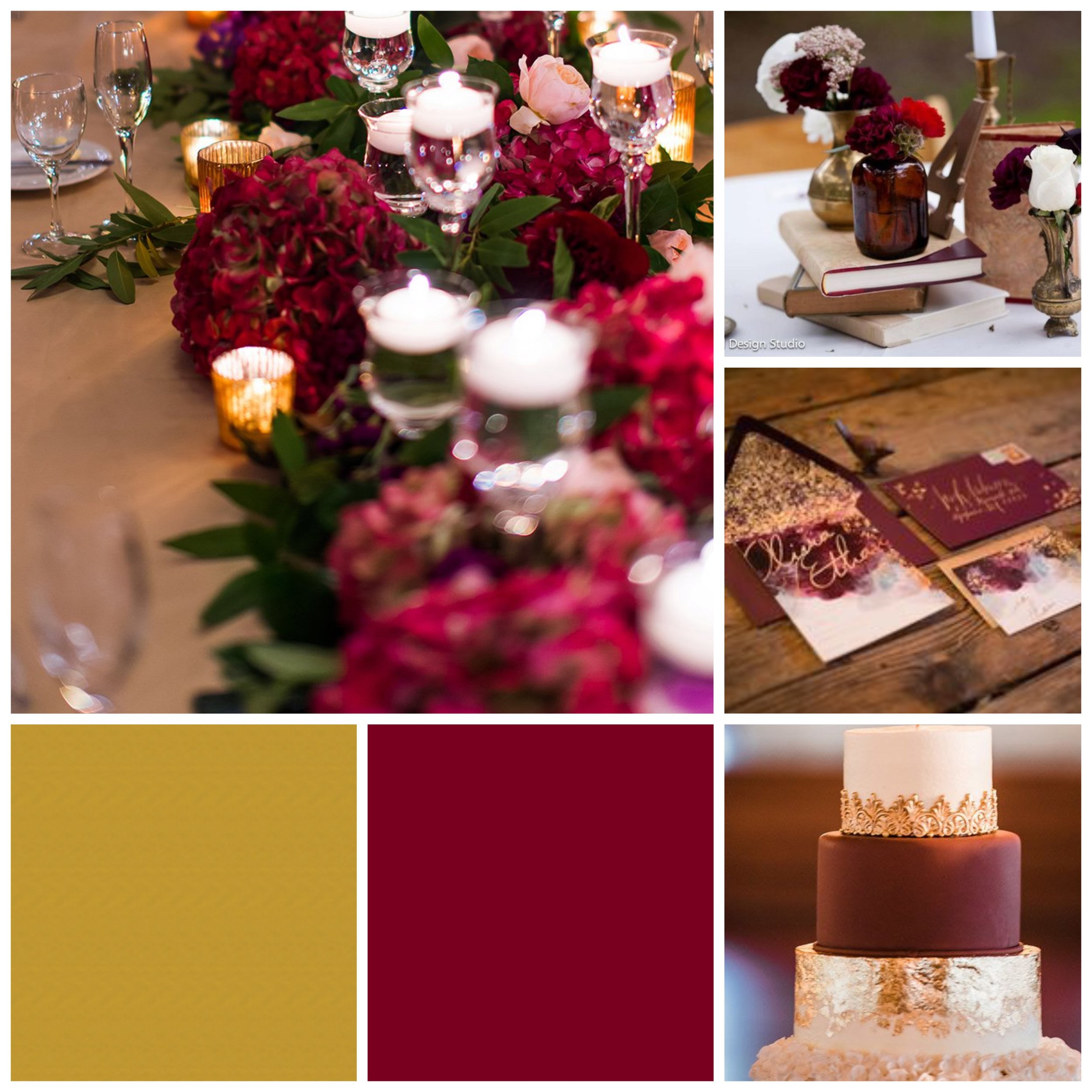 Jam & Gold Moodboard for your wedding inspiration.