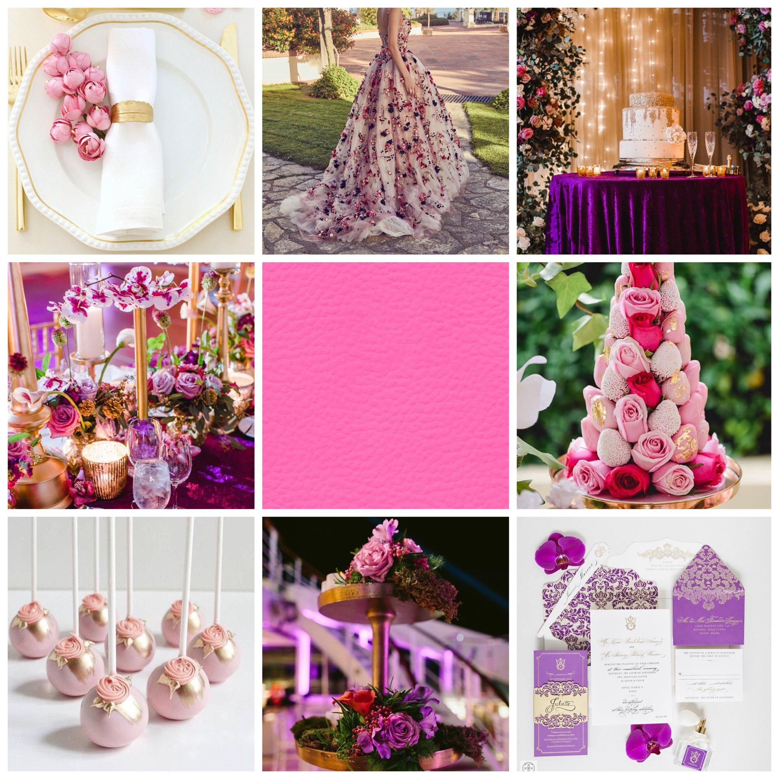 Purple Heart & Wild Strawberry Moodboard.