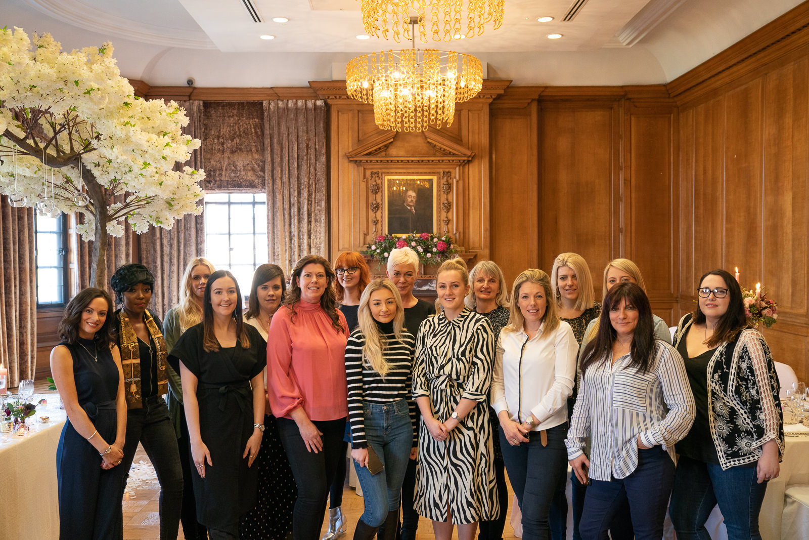 Guests at the Champagne & Flamingos scent styling masterclass.