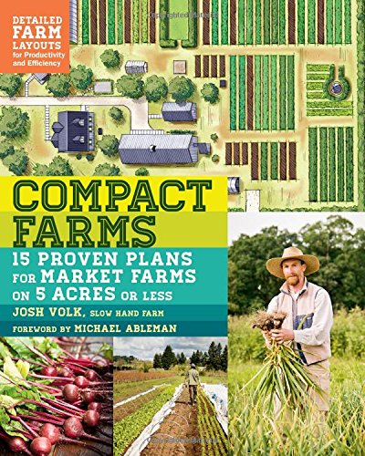 Compact Farms by Josh Volk - If you grow on 5 acres or less, this book is priceless! It offers details from 15 farms across the country about field layout, tools and infrastructure, soil fertility, method of spreading soil amendments, seed starting process, planting, harvesting and more. I gleaned so much information that will absolutely save us time, tears and stress as we're setting up our new farm. Its all about maximizing space and efficiency! I seriously cannot recommend it enough.