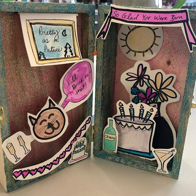 Elevated birthday card 🎂 #craftclubboston #cheers #gladyouwereborn 🎉🎉🎉