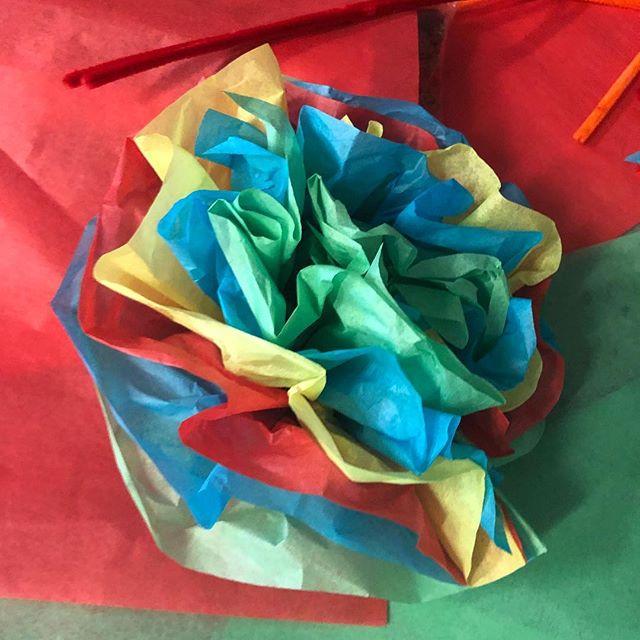 Crafting #beauty today #bloom #allergyseason #tissue #craftclubboston #boston