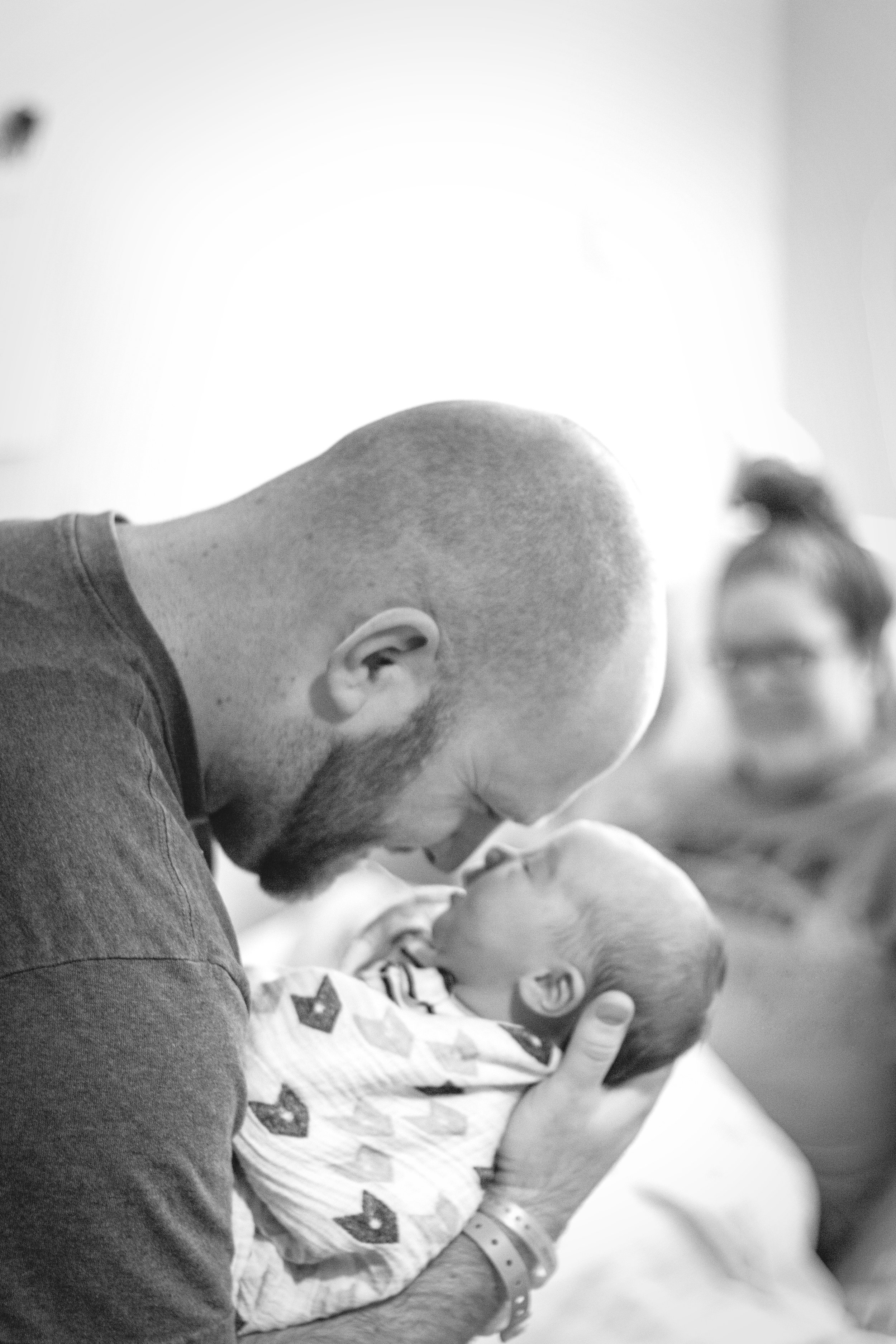 Such a sweet Fresh 48 session with this newborn baby boy, his big sister, and their mama and daddy!