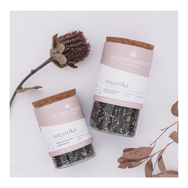 The Organika Hair Custom Blend ~ . . This has been Naturopathically formulated to nourish the blood & follicles & to promote healthy hair growth ~ . . We love collaborating with conscious businesses wanting to make a difference in the world. @organikahair ~ . . #madeinfitzroy #organikahair #hairmelbourne #melbournetea #naturopath