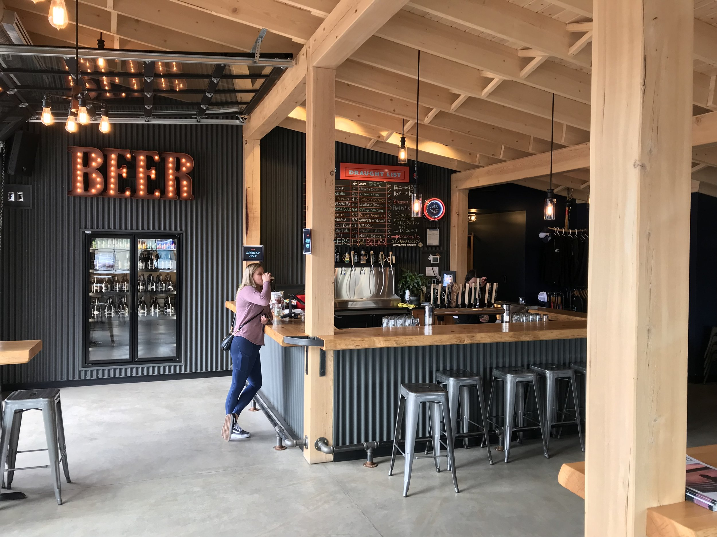 Great tasting room at Smithers Brewing Company