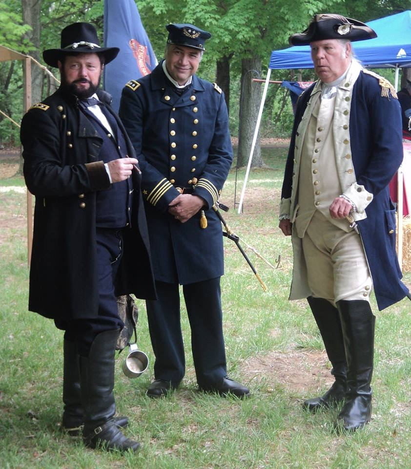 Admiral Farragut with General Grant & General Washington at the NJ State History Fair in 2015